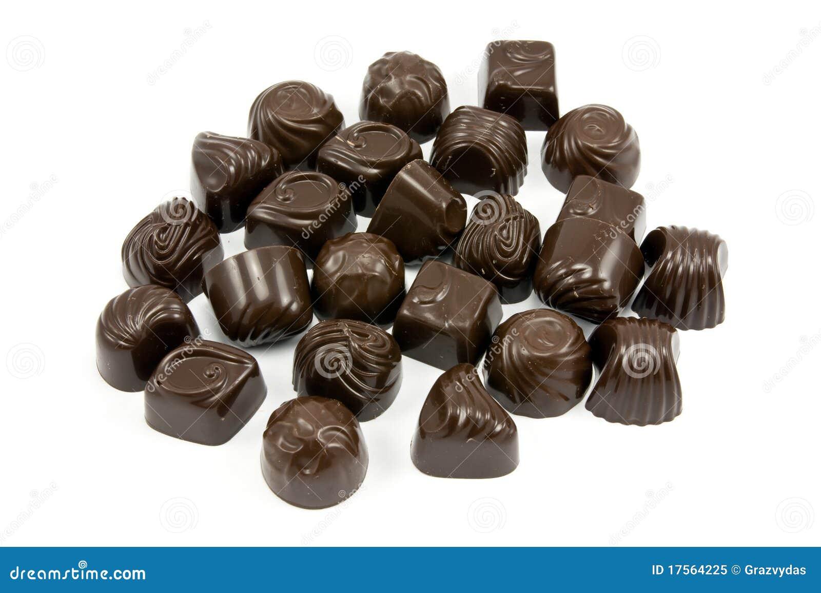 Dark Assorted Chocolate Pralines Royalty Free Stock Photo - Image ...