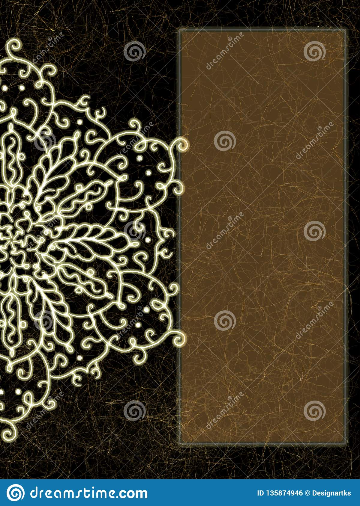 dark background and traditional pattern card textures