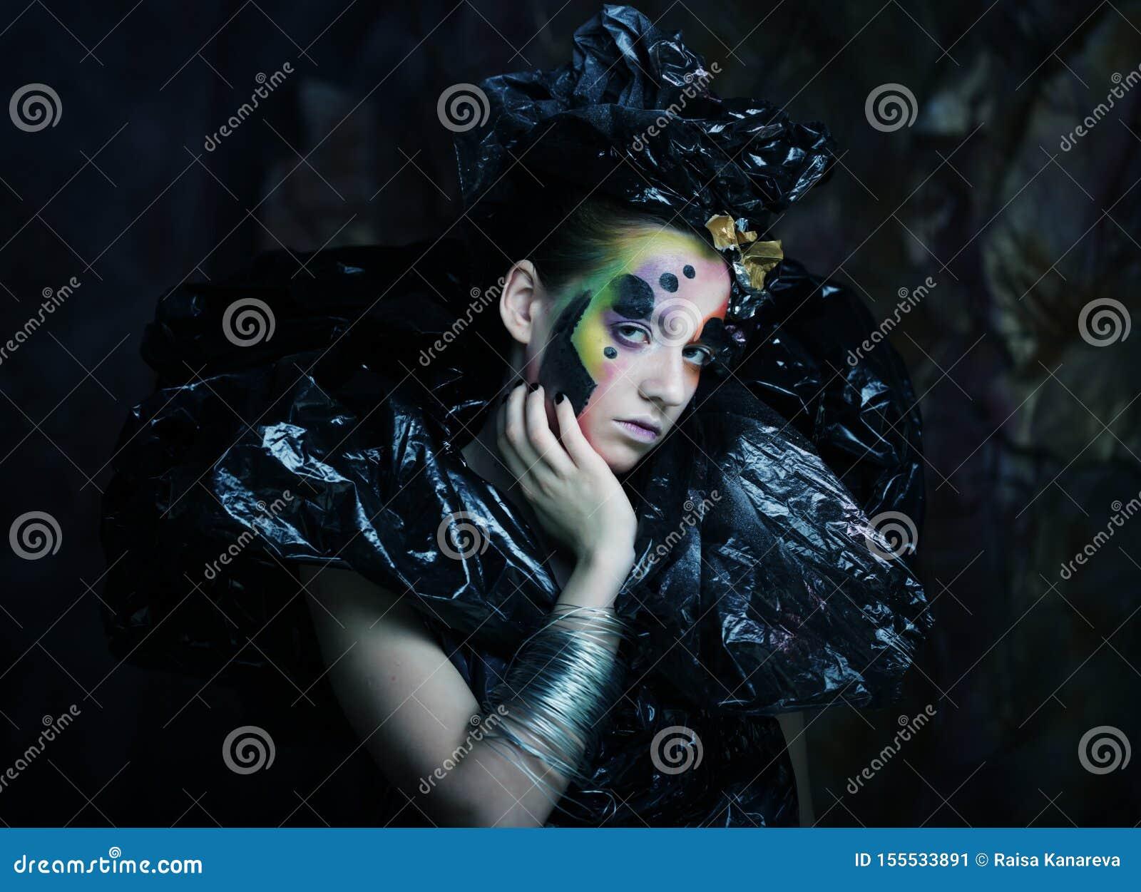 Dark Beautiful Gothic Princess. Halloween party. Close up.