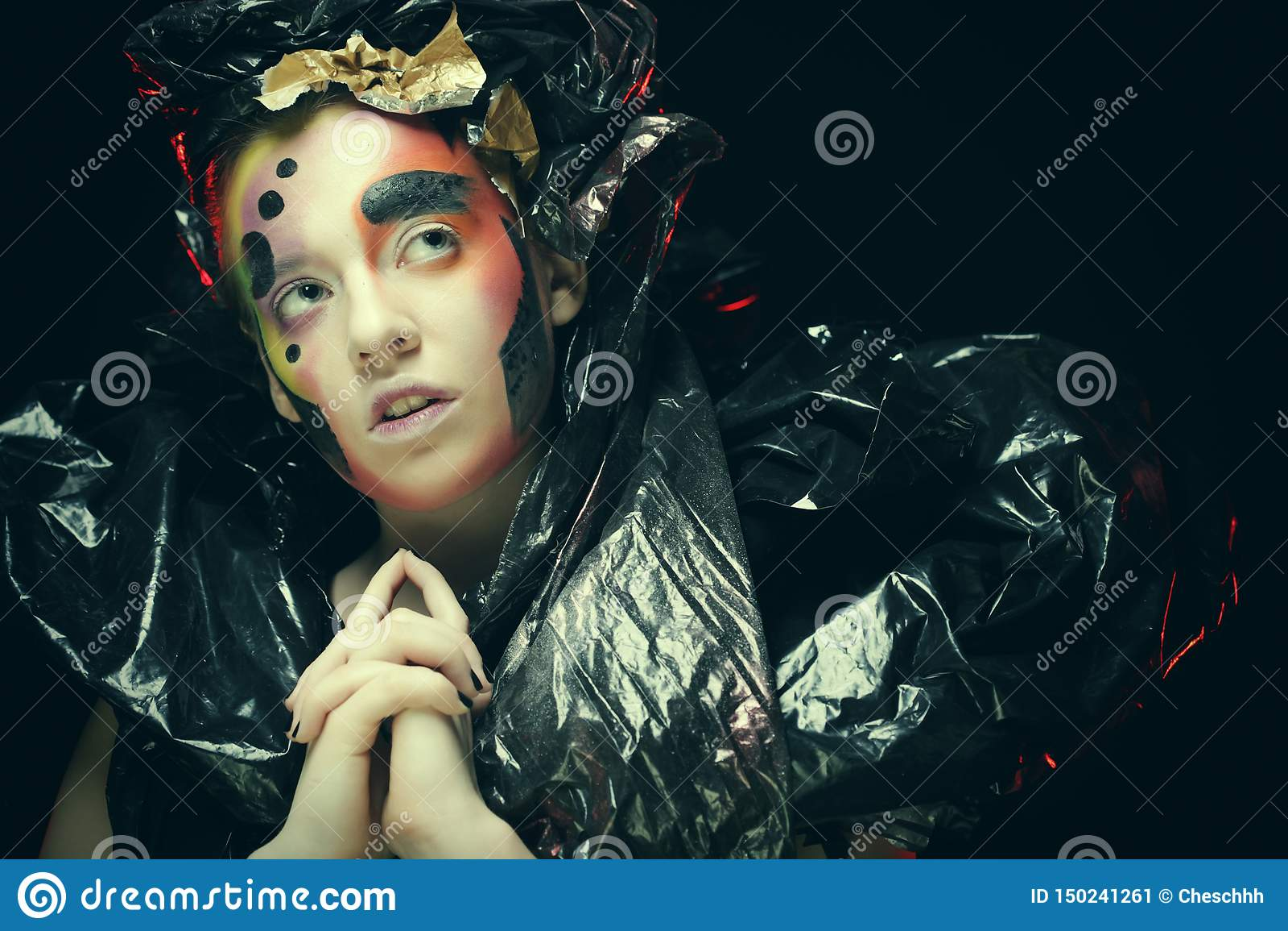 Dark Beautiful Gothic Princess.Halloween party