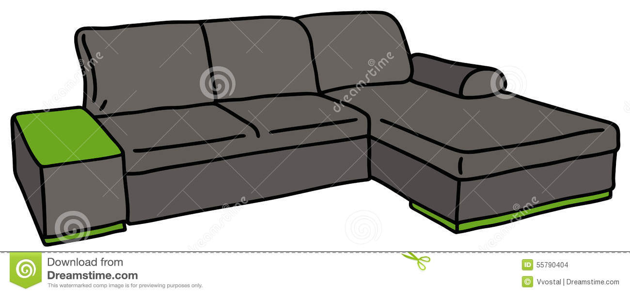 Dark big couch stock vector image 55790404 for Big sofa technologies