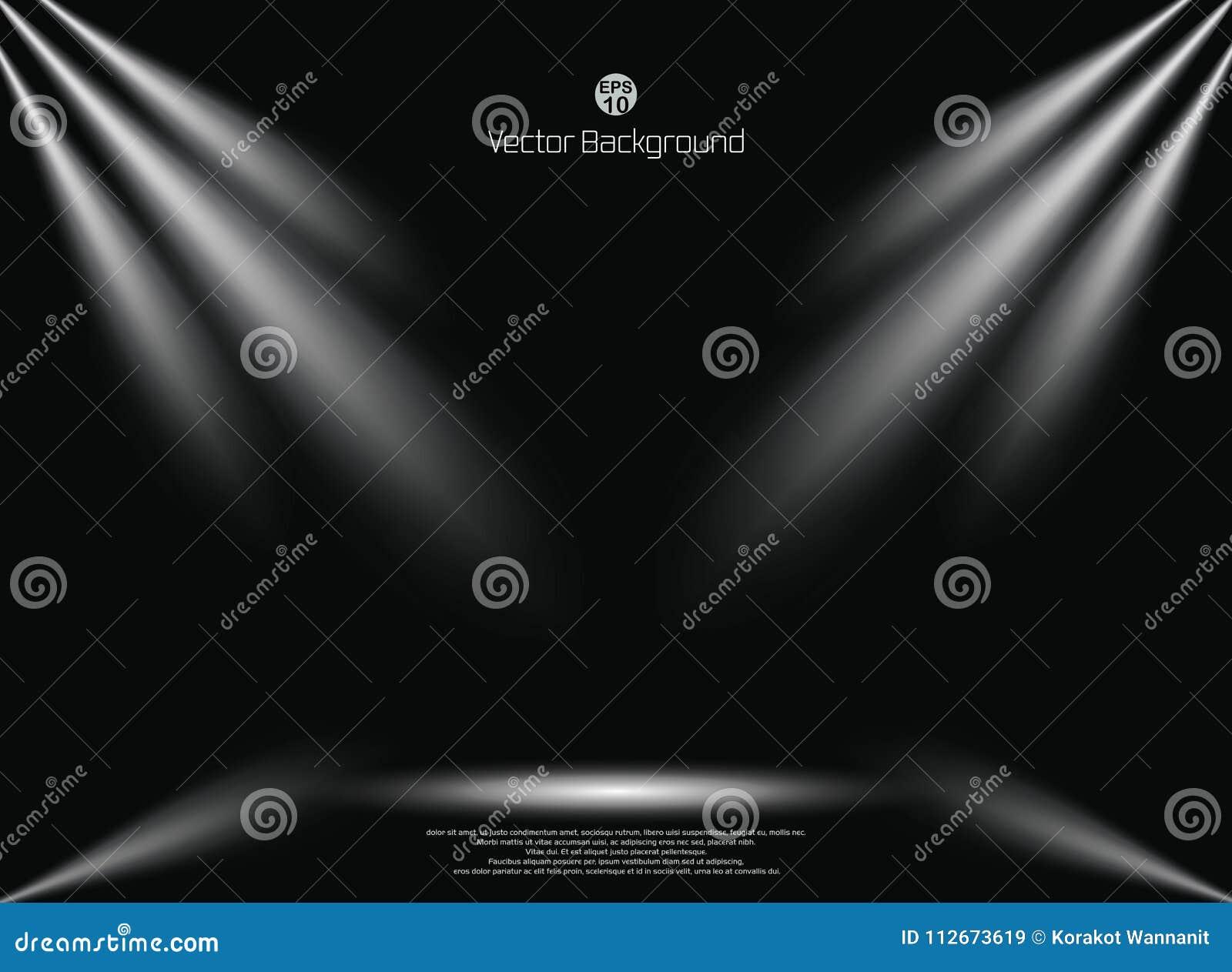 dark black background with lighting spotlight business backdrop