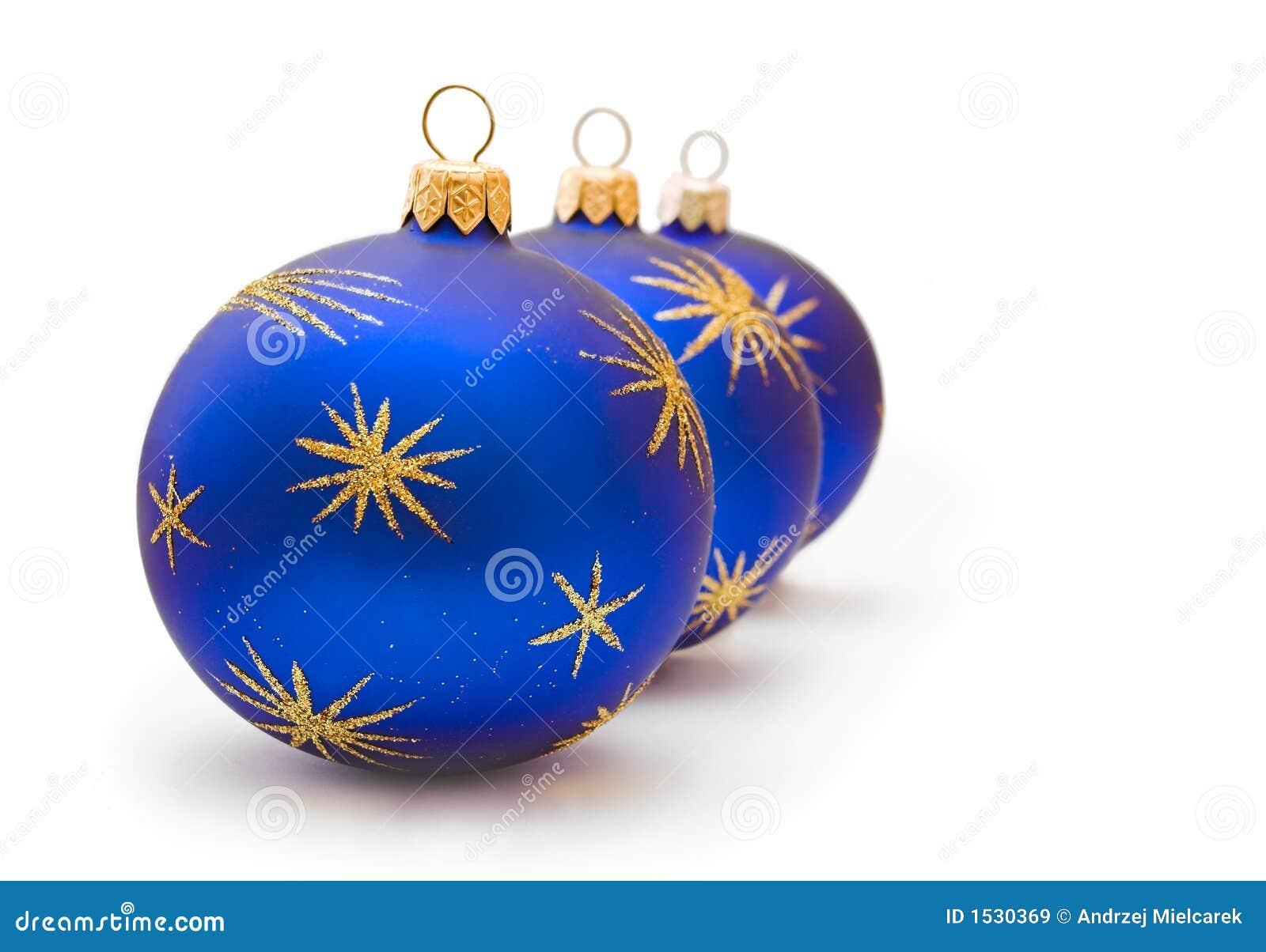 Dark Blue Christmas Balls Stock Image Image Of Three 1530369