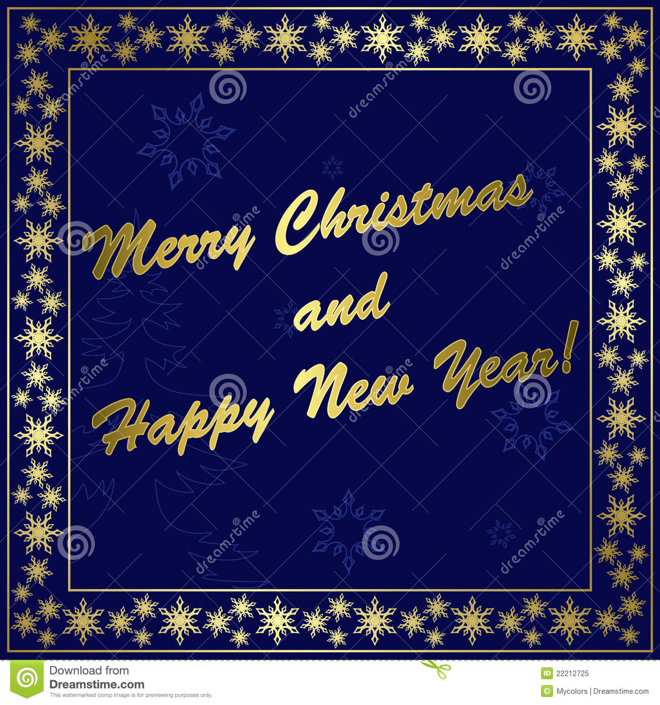 dark blue christmas card with gold decor eps stock vector