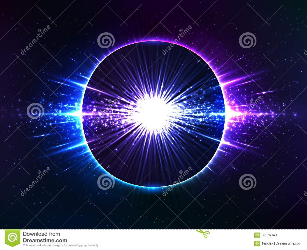 Dark Blue Cosmic Explosion, Vector Abstract Stock Vector ...
