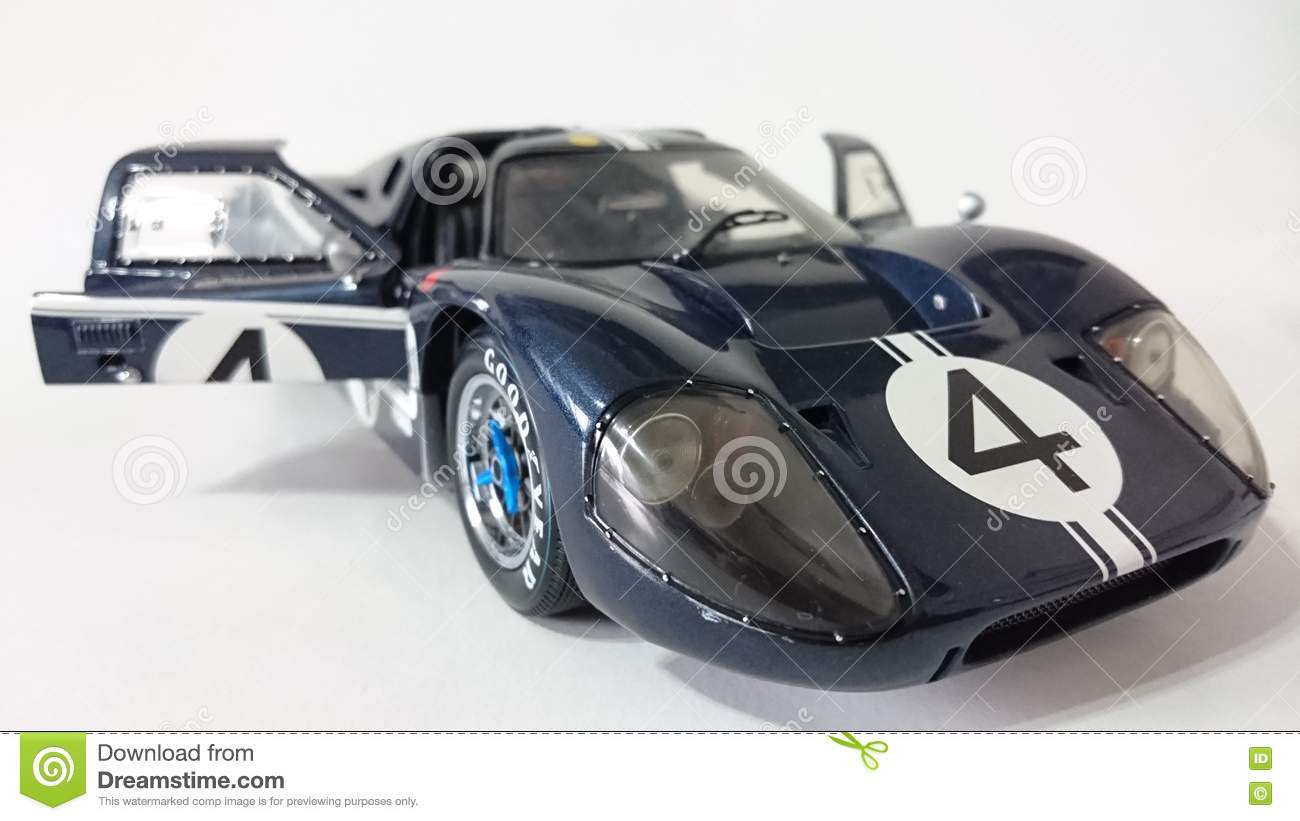 Dark Blue Ford Gt40 Racing Car Editorial Photography Image Of