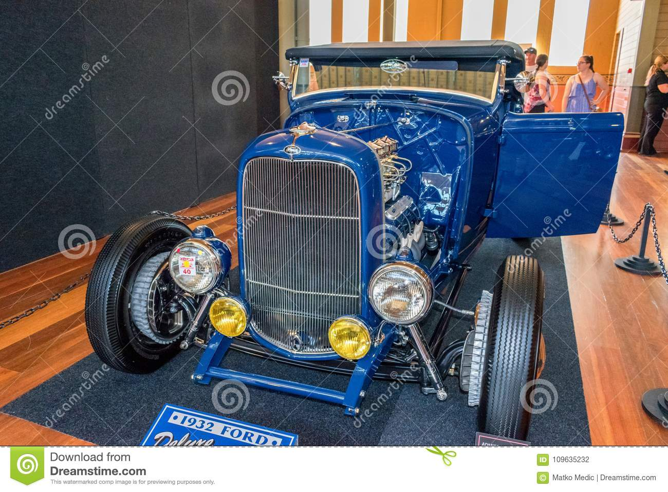 Dark Blue Ford Hot Rod Car Editorial Photography Image Of Made
