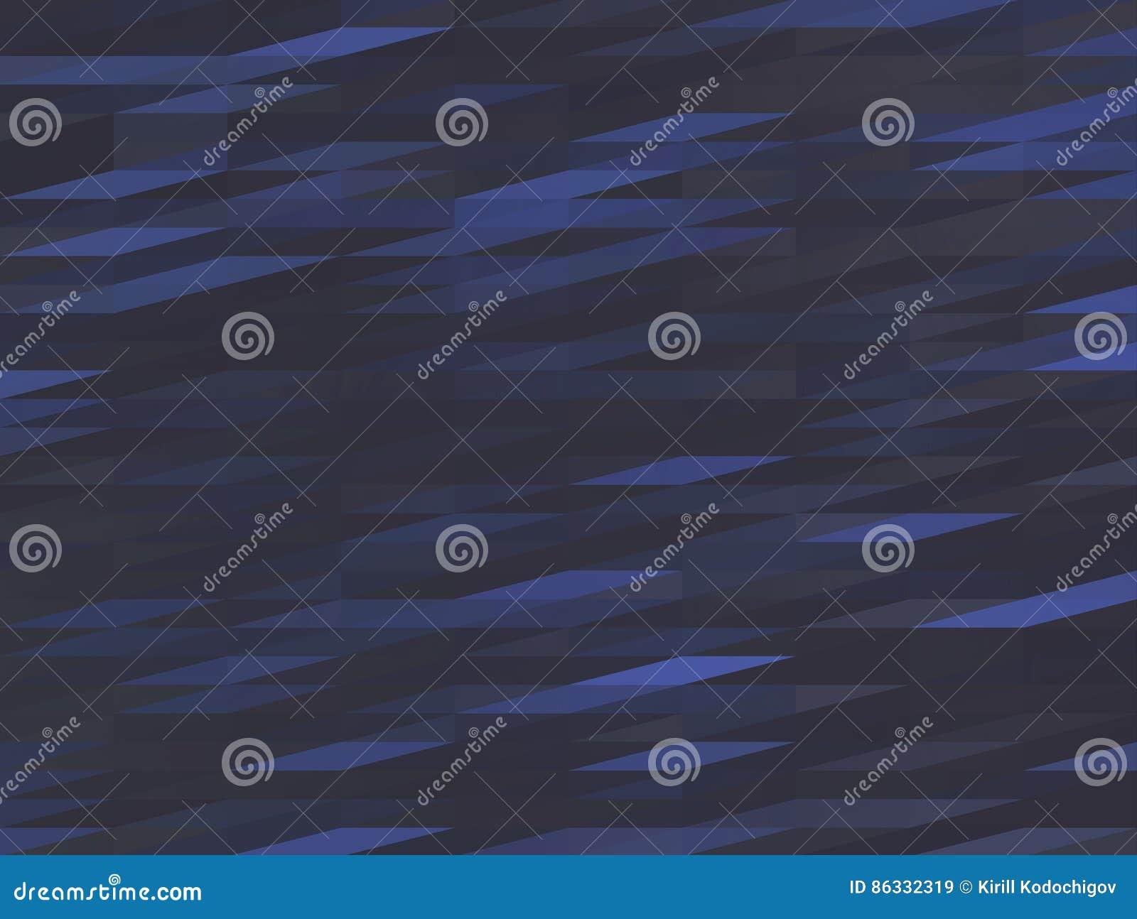 Dark blue low-poly background, polygonal triangular grey wave