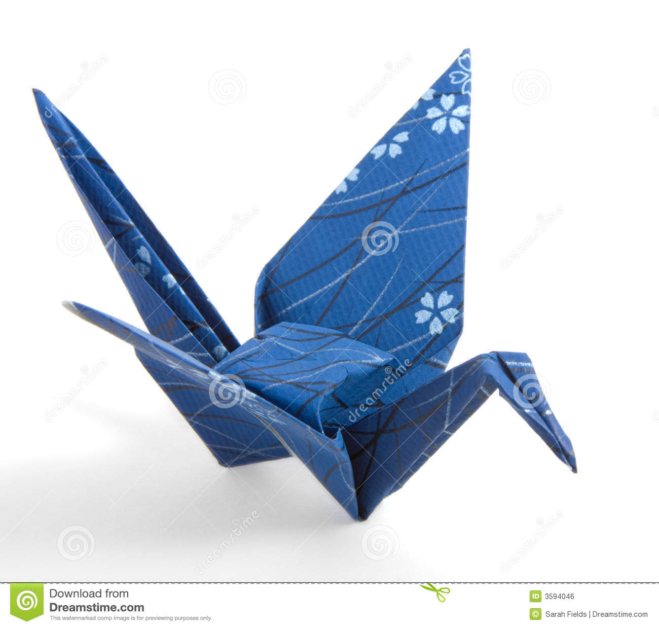 Dark Blue Origami Crane Stock Photo Image Of Navy