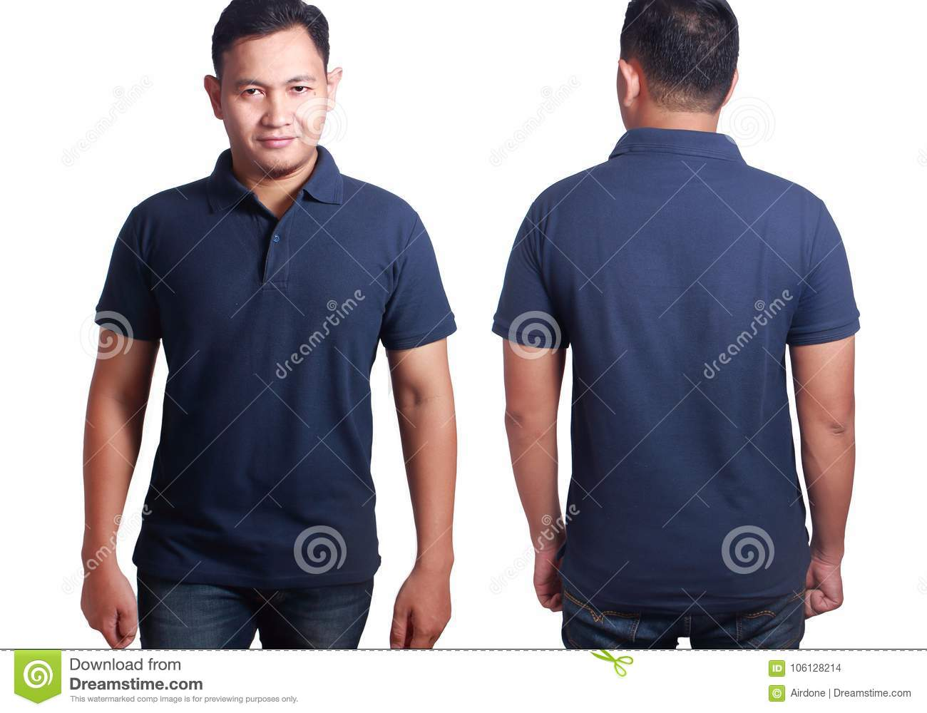 Dark Blue Polo Shirt Mockup Template Stock Photo Image Of