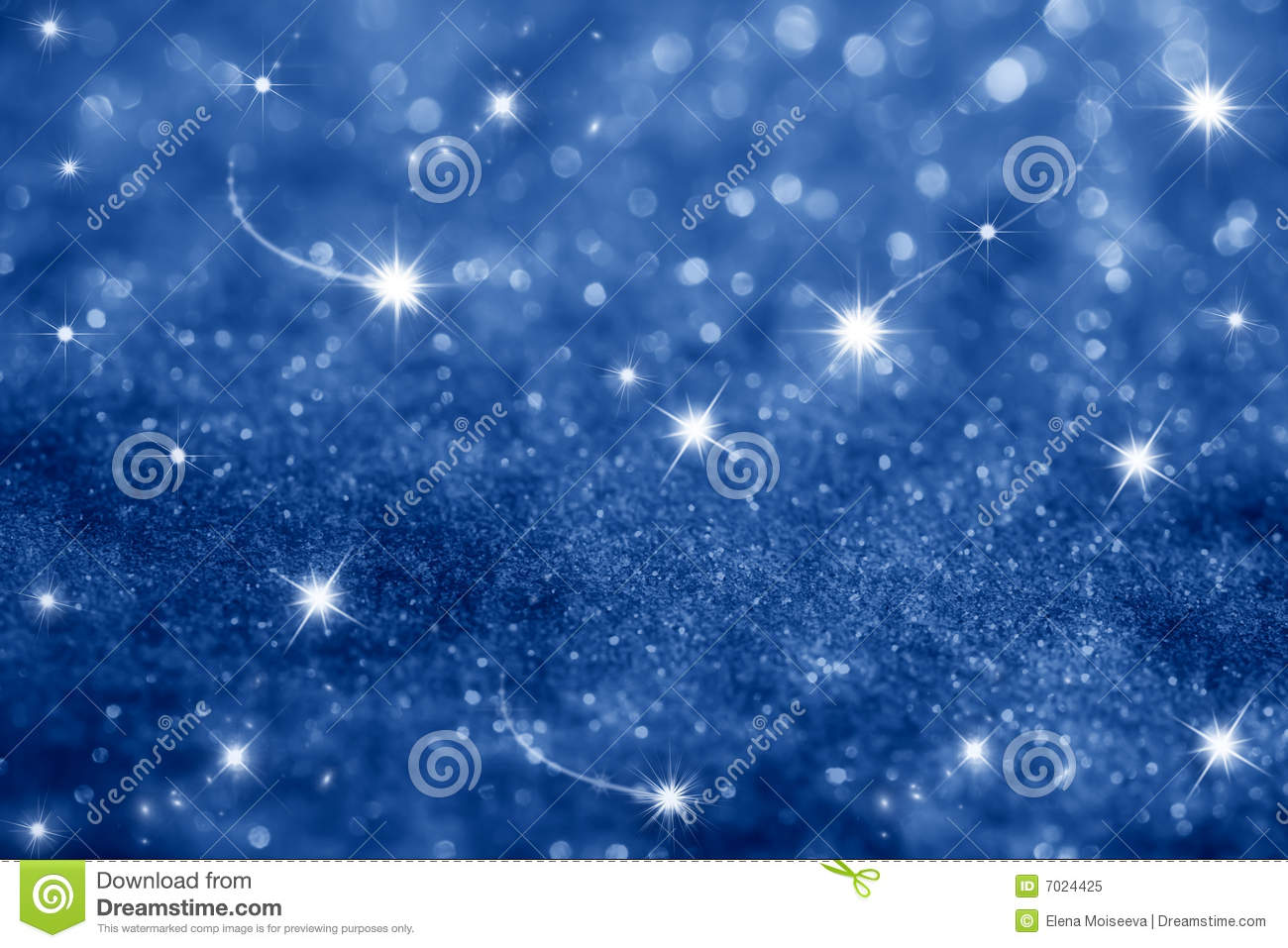 Dark blue stars and glitter sparkles background