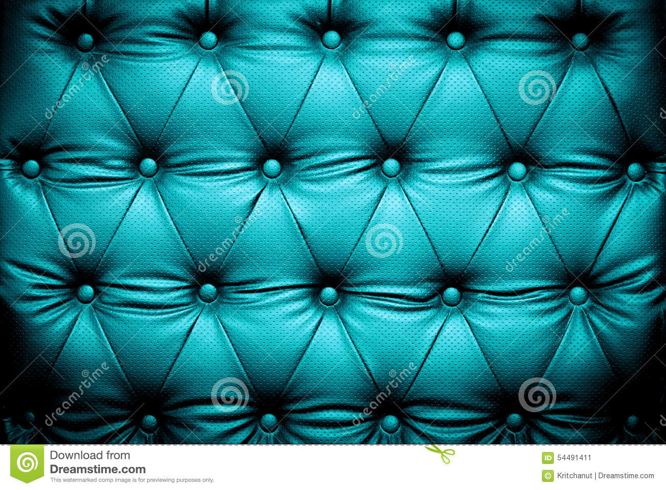 Dark Blue Turquoise Leather Texture With Buttoned Pattern
