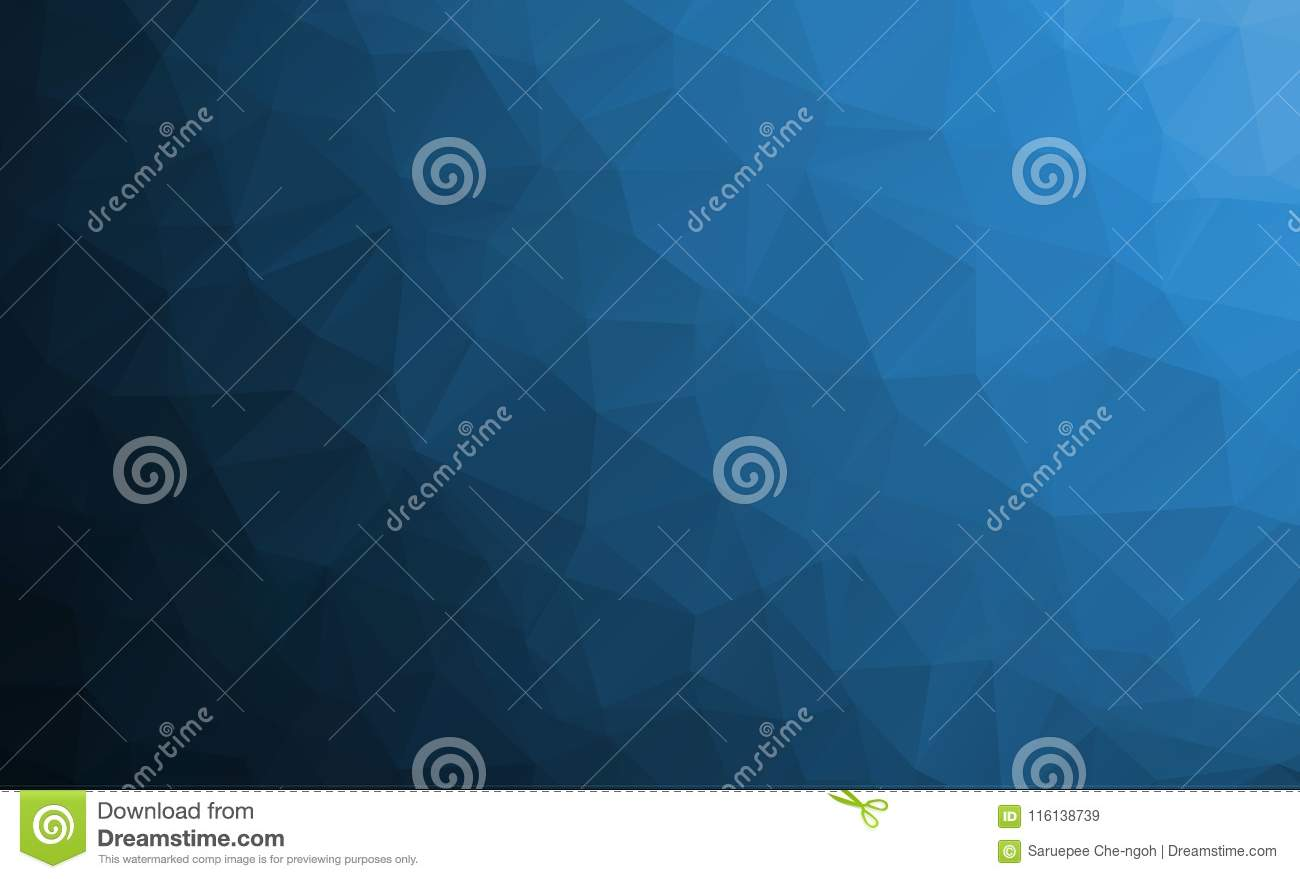 DARK BLUE vector abstract textured polygonal background.