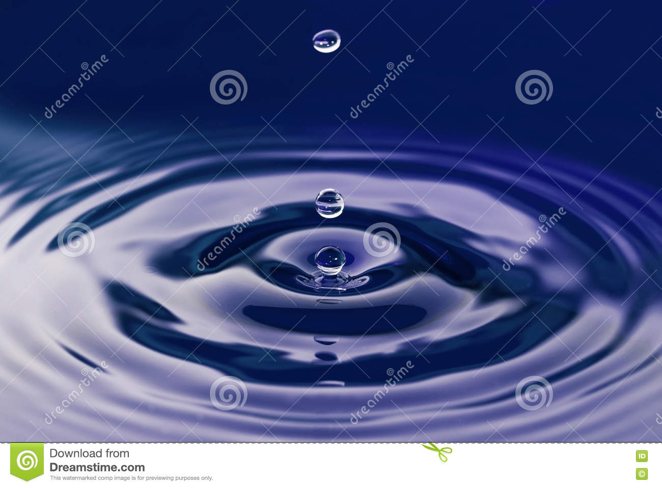 Dark blue water drop abstract