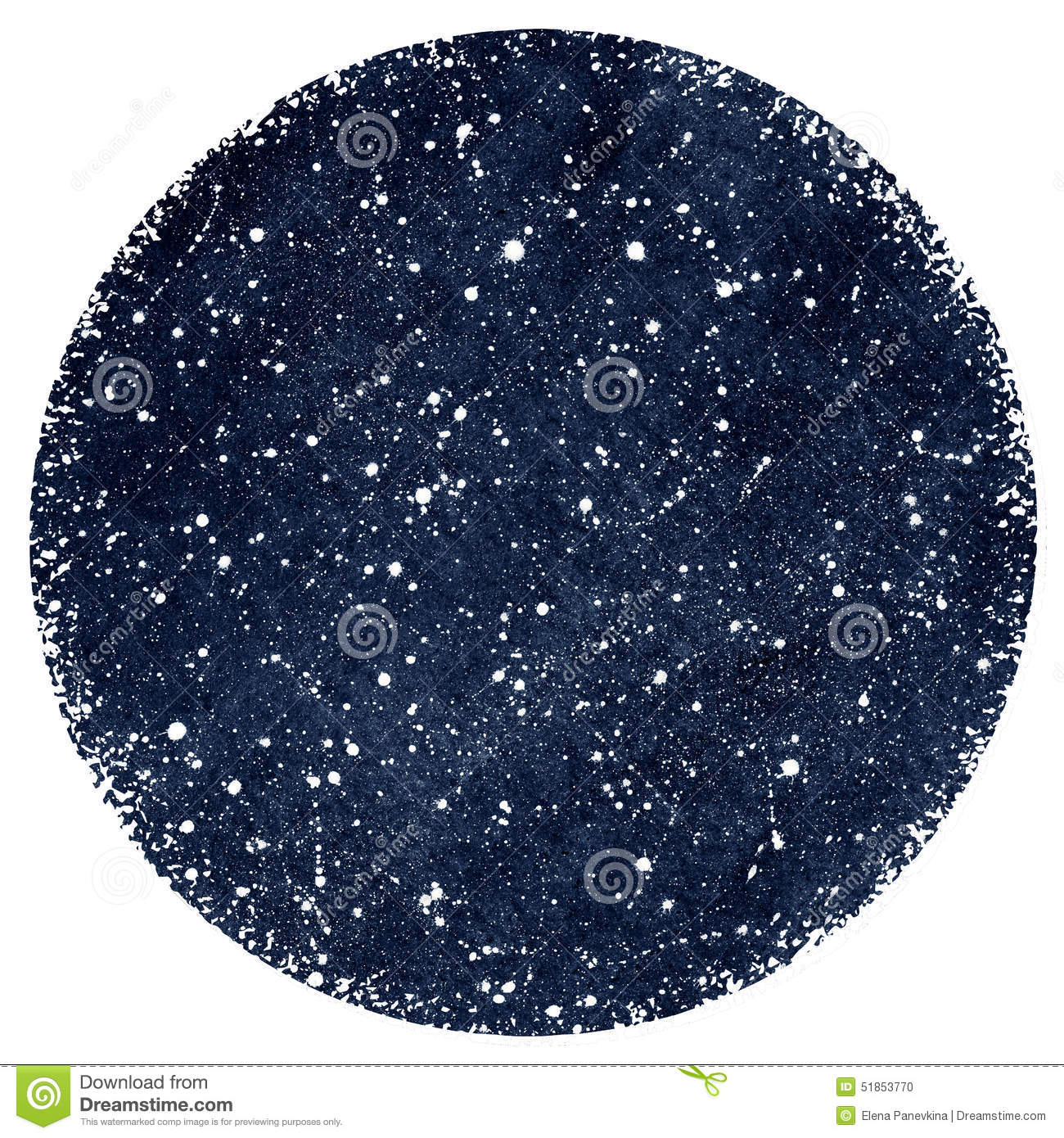 dark blue watercolor night sky with stars stock