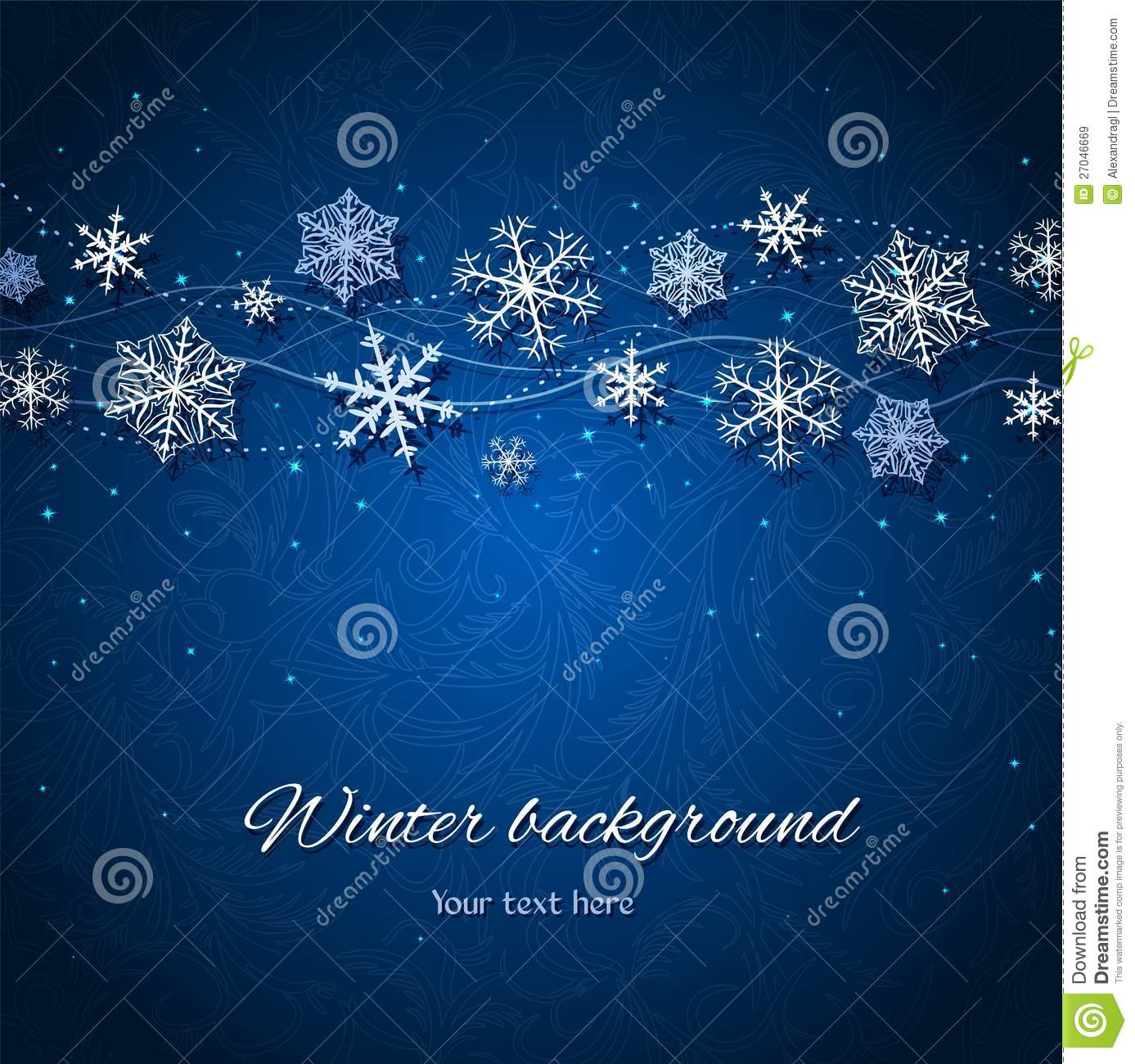 dark blue winter vector background royalty free stock images