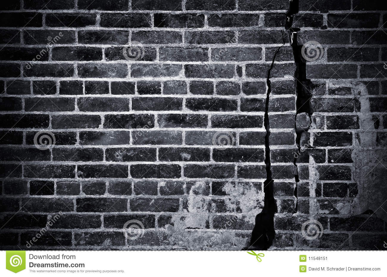 Dark Brick Wall Stock Image Image Of Concrete Fence