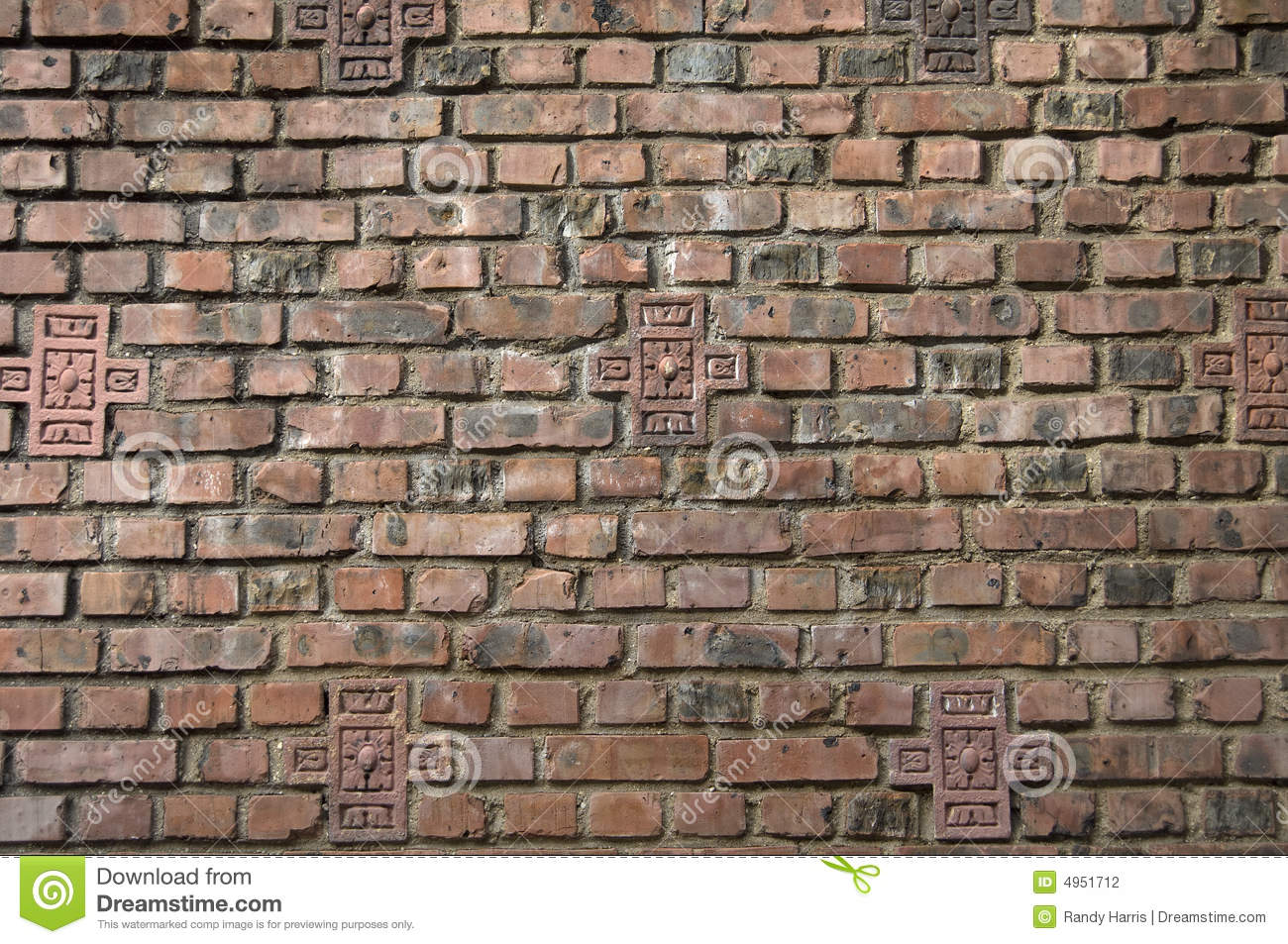 Dark brown red brick wall stock photography image 4951712 for Red and brown walls