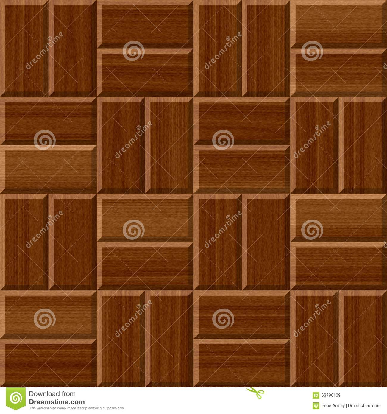 Dark Brown Wood Floor Tiles Seamless Pattern Texture