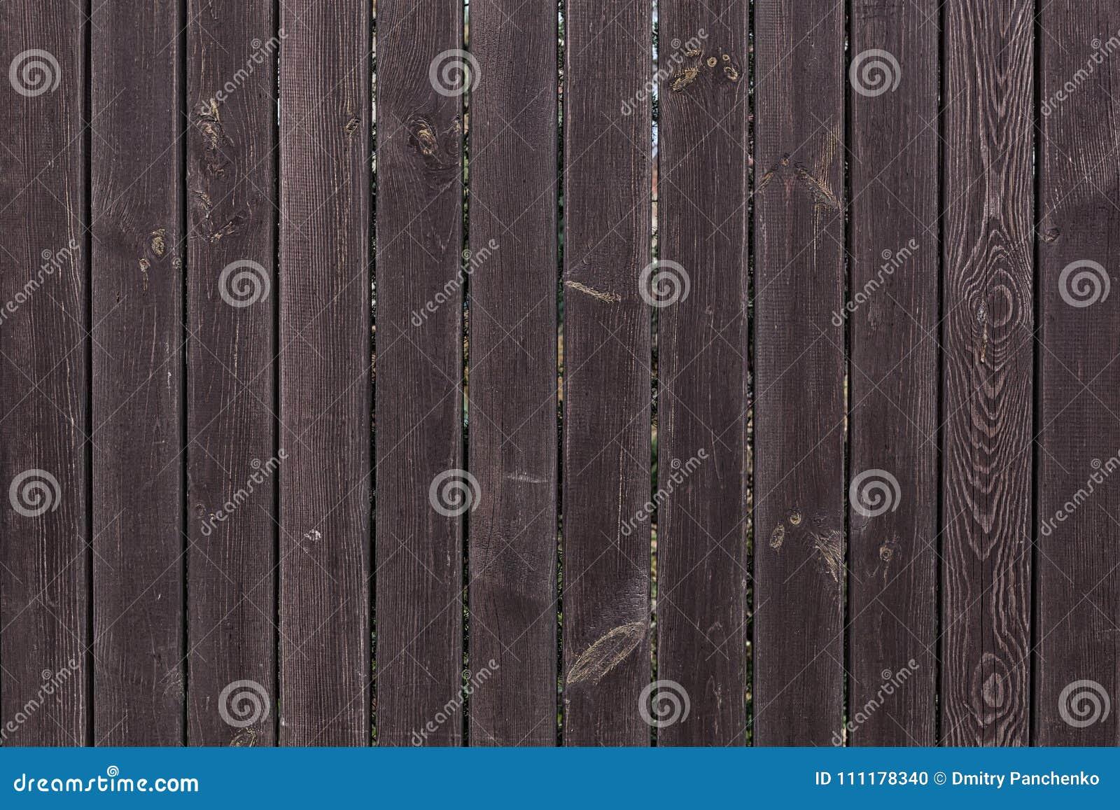 Dark Brown Wooden Planks Close Up.