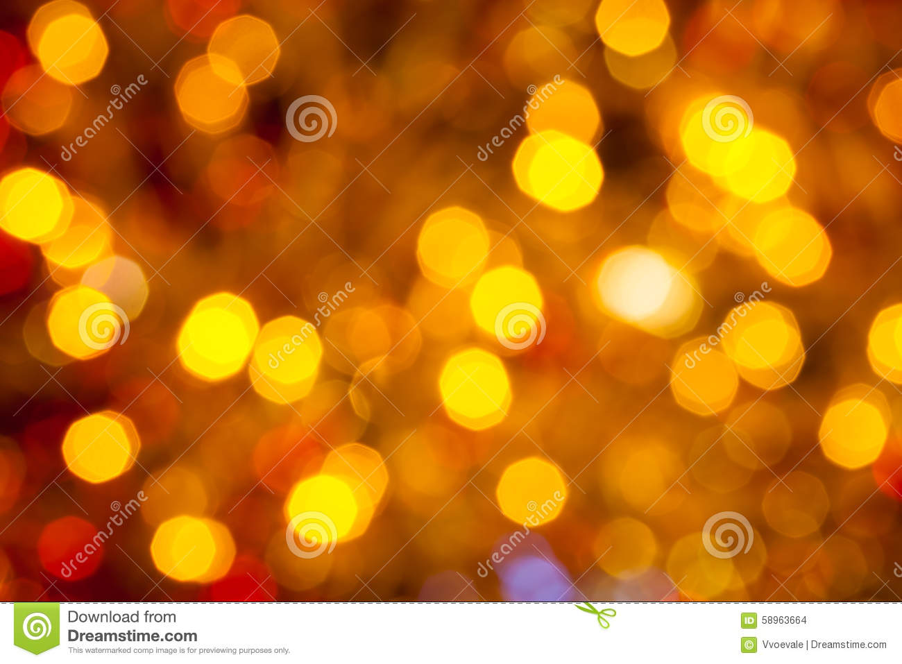 Dark Brown Yellow And Red Blurred Christmas Lights Stock Photo ...