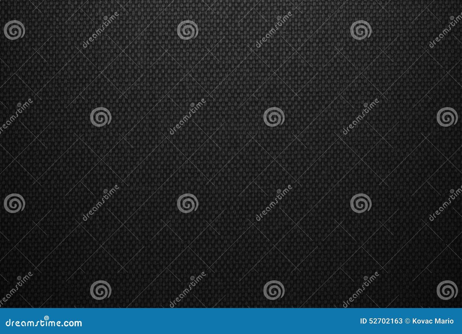 Black Canvas Background : Crumpled handmade gray fabric on a dark background