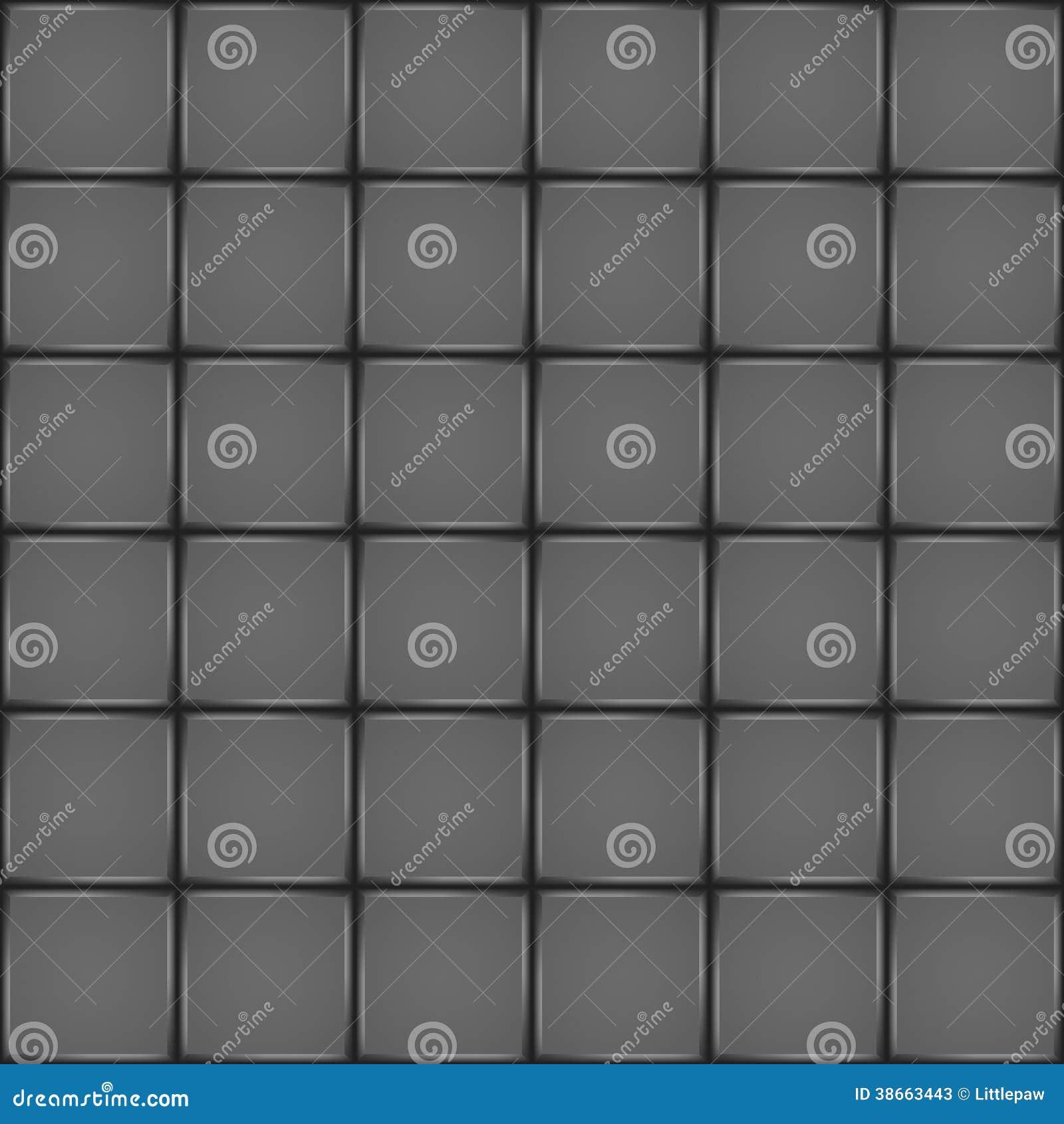 Dark Ceramic Tile Seamless Pattern Stock Vector Illustration Of