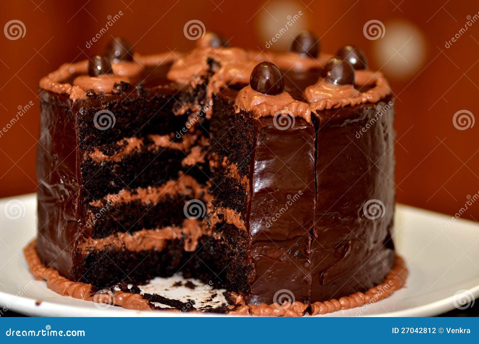 Dark Chocolate Cake Stock Photography - Image: 27042812