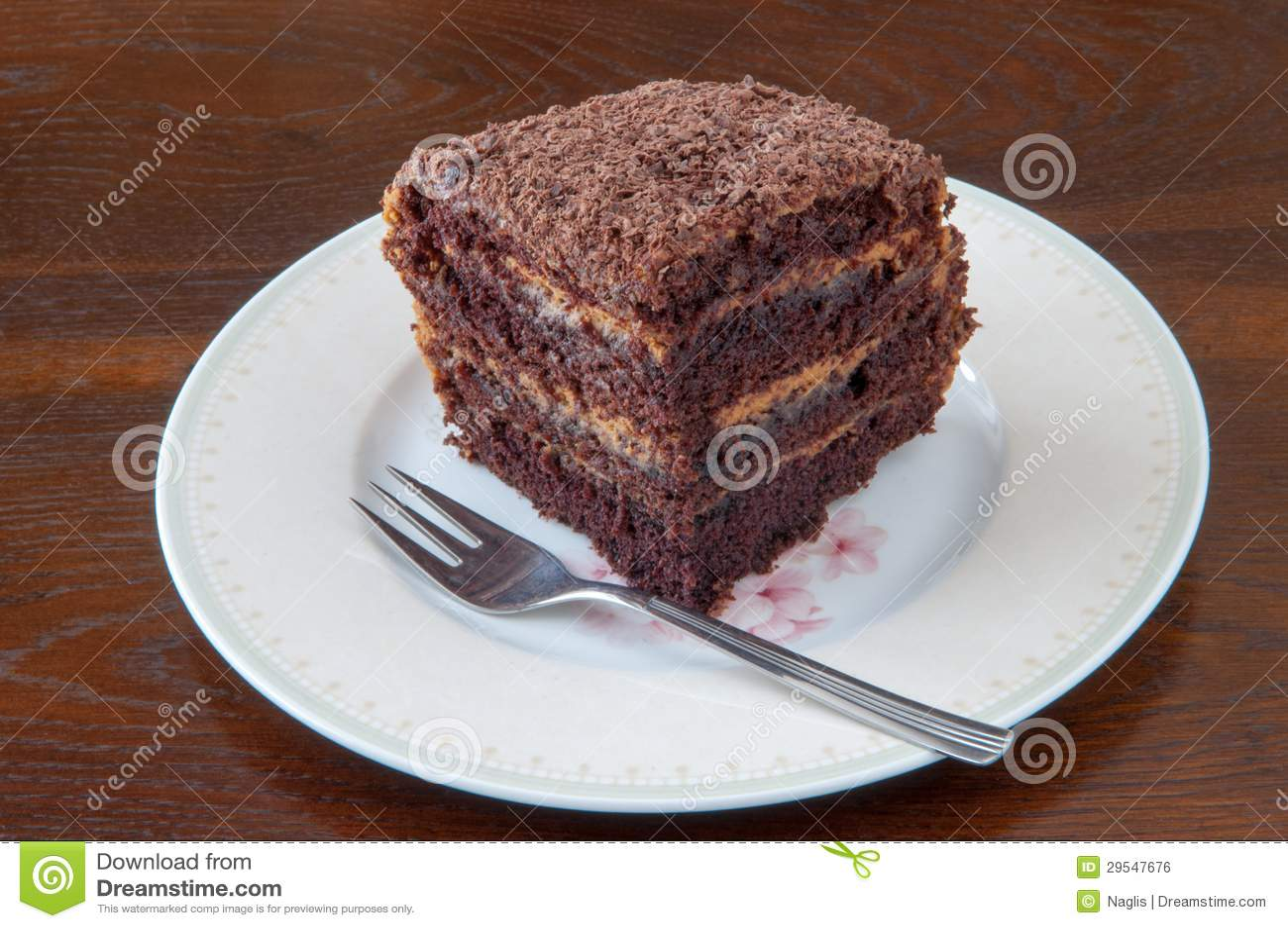 Dark Chocolate Cake II Royalty Free Stock Image - Image: 29547676