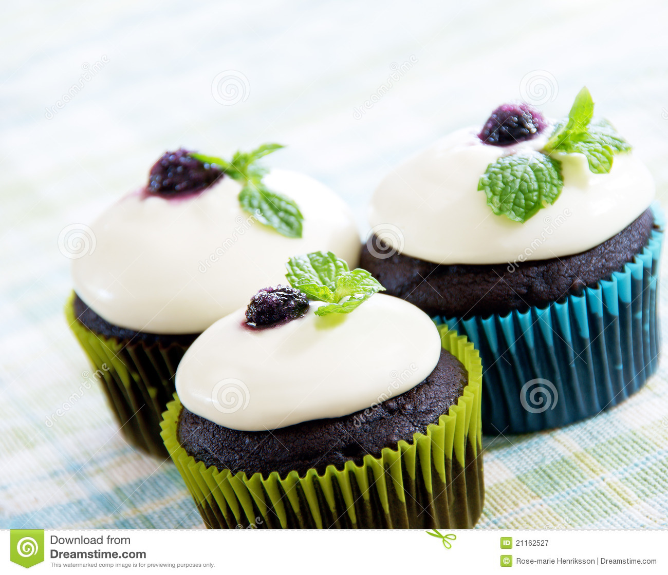 Dark Chocolate Cupcakes Royalty Free Stock Photography ...