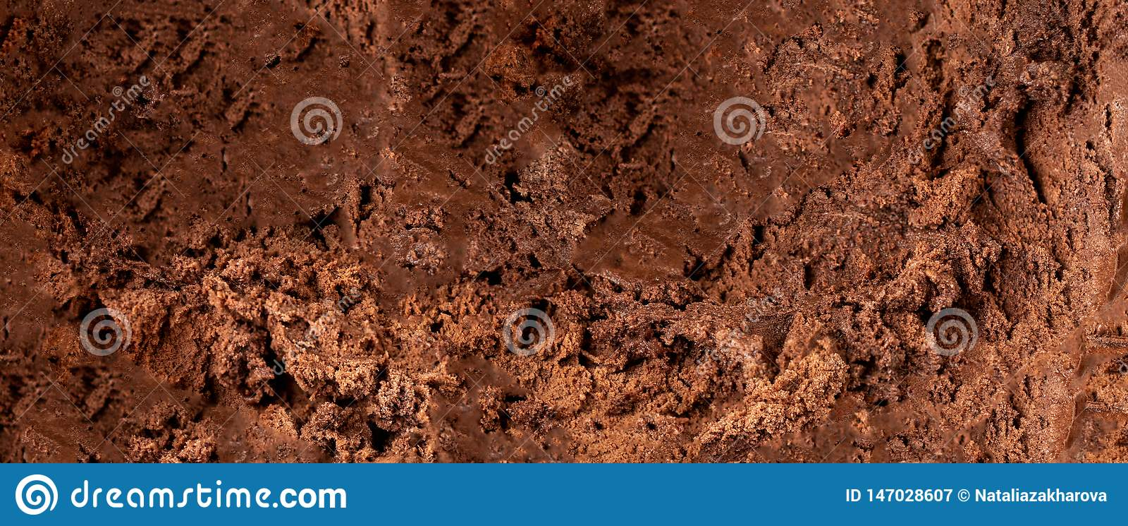 Dark Chocolate ice cream Background or Texture. Cocoa ice-cream wallpaper