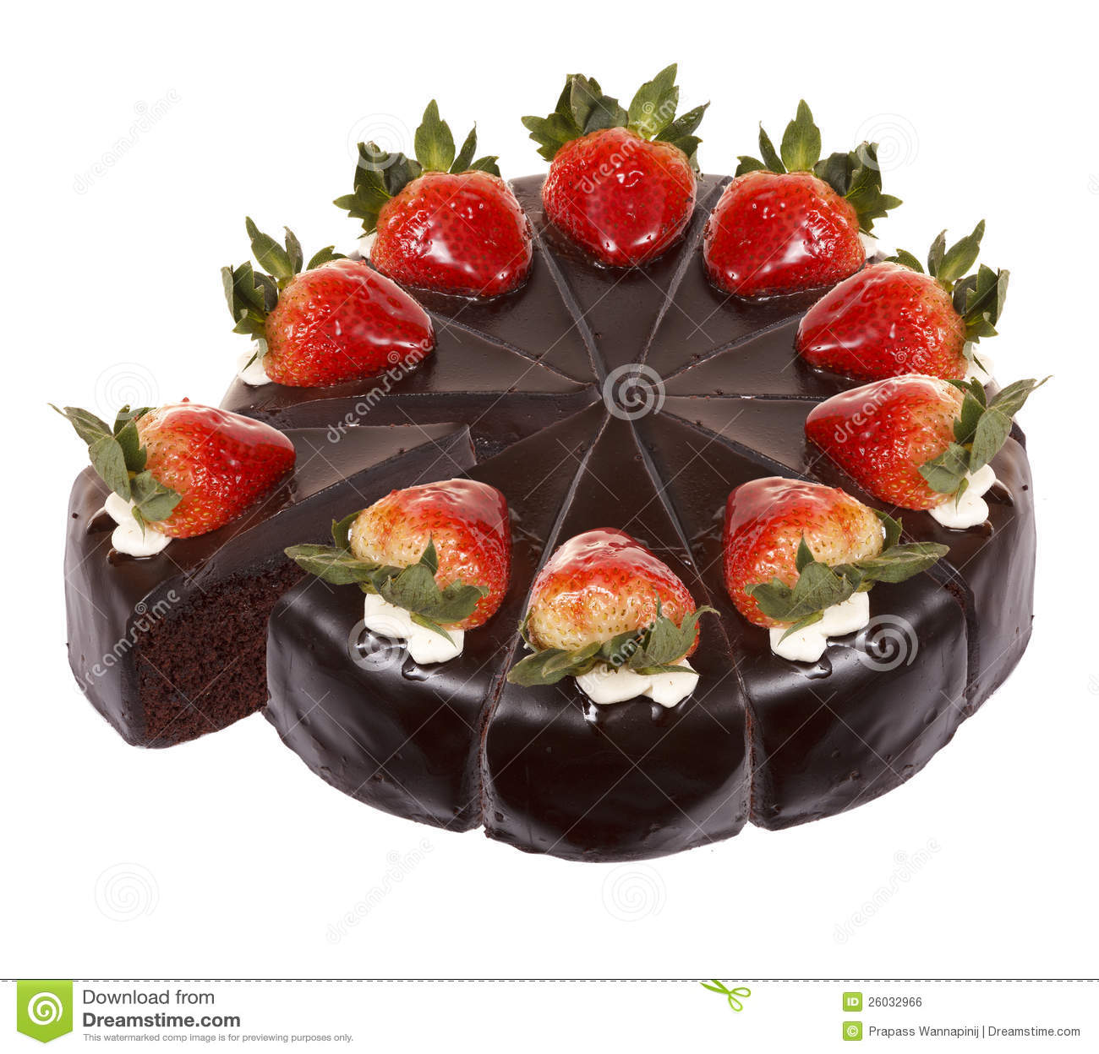 Dark Chocolate Strawberry Cake Royalty Free Stock Image - Image ...