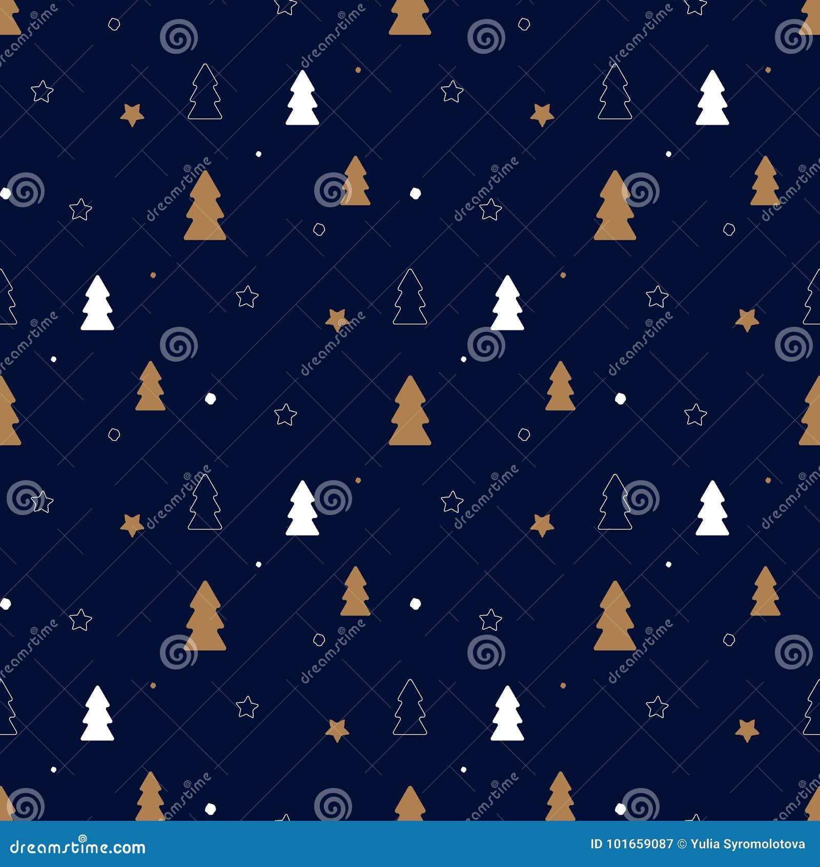 Dark Christmas Pattern Stock Vector Illustration Of Background