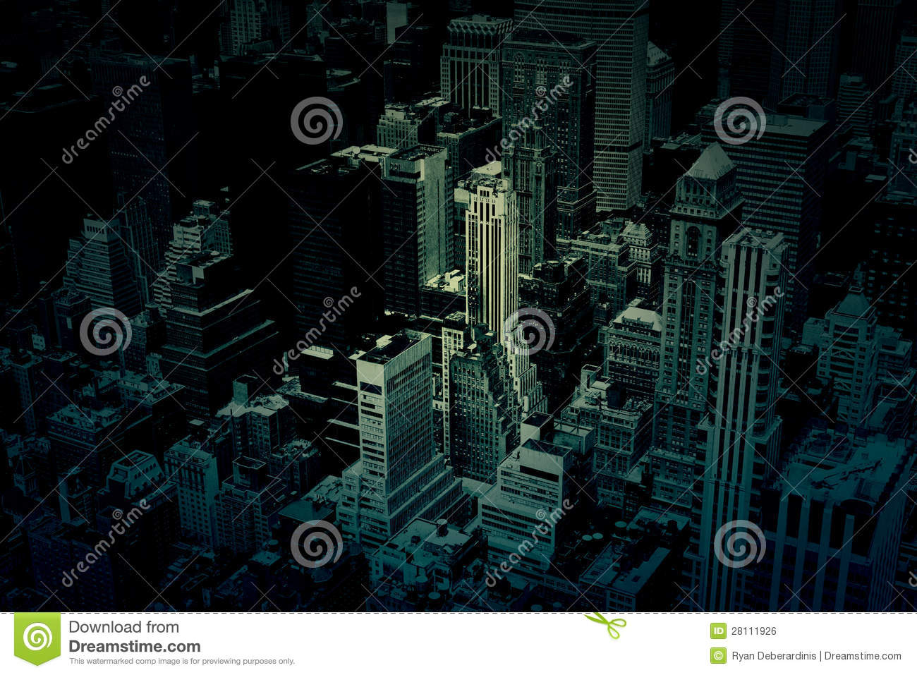 Dark City Buildings Background Texture Royalty Free Stock