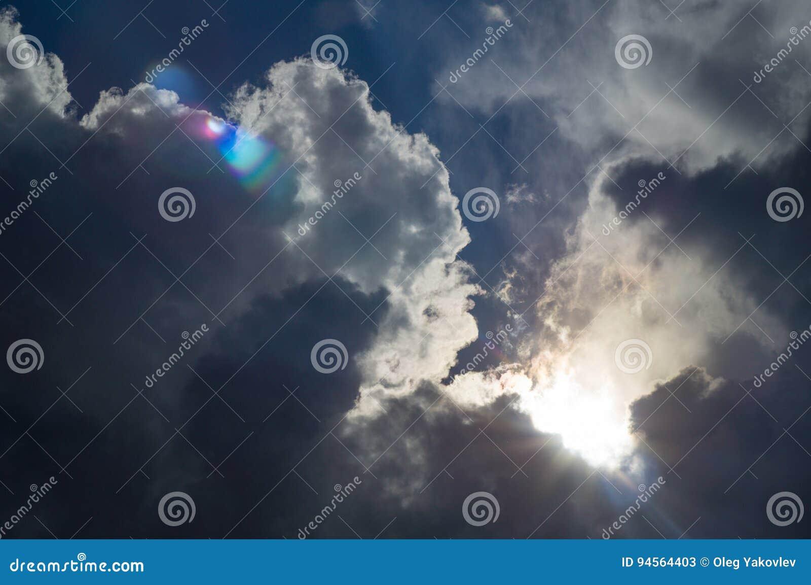 dark clouds in bad weather