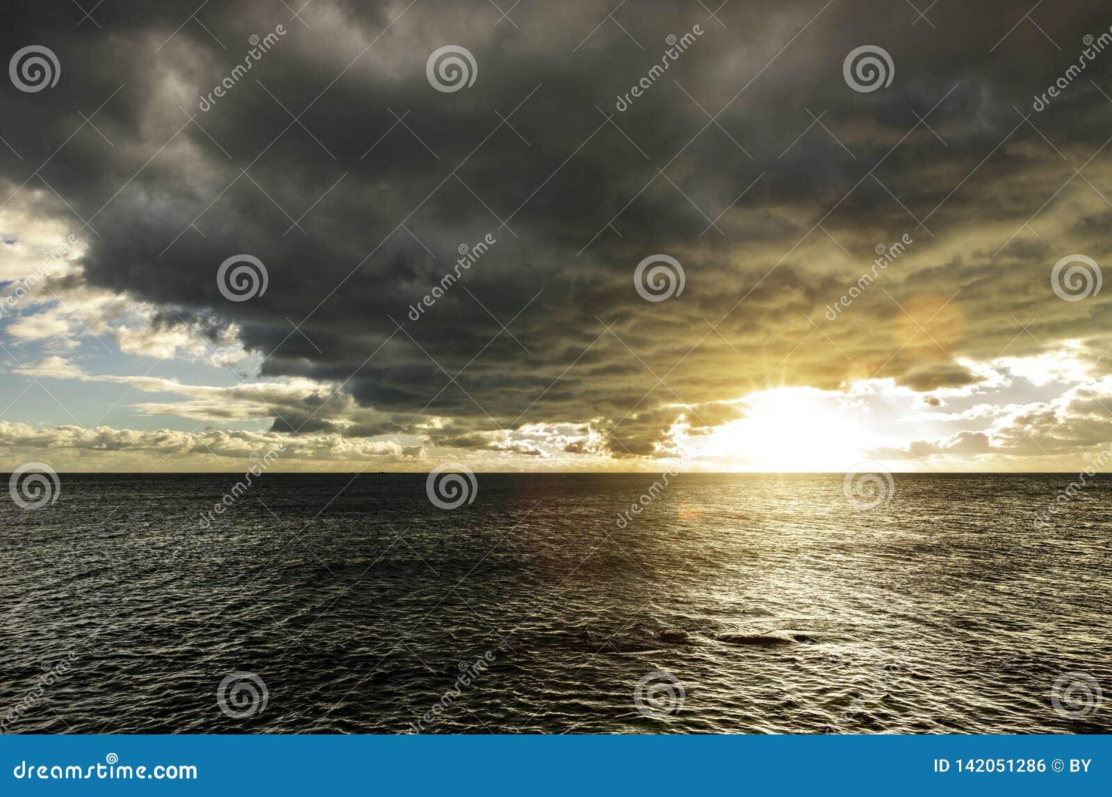 Dark Clouds over The Sea