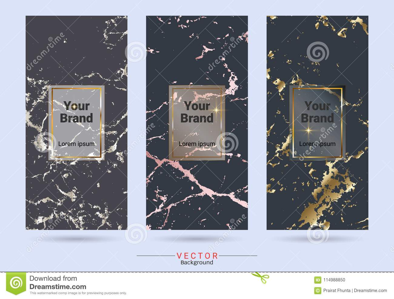 Dark Colored And Gold Packaging Product Design Label And Stickers ...