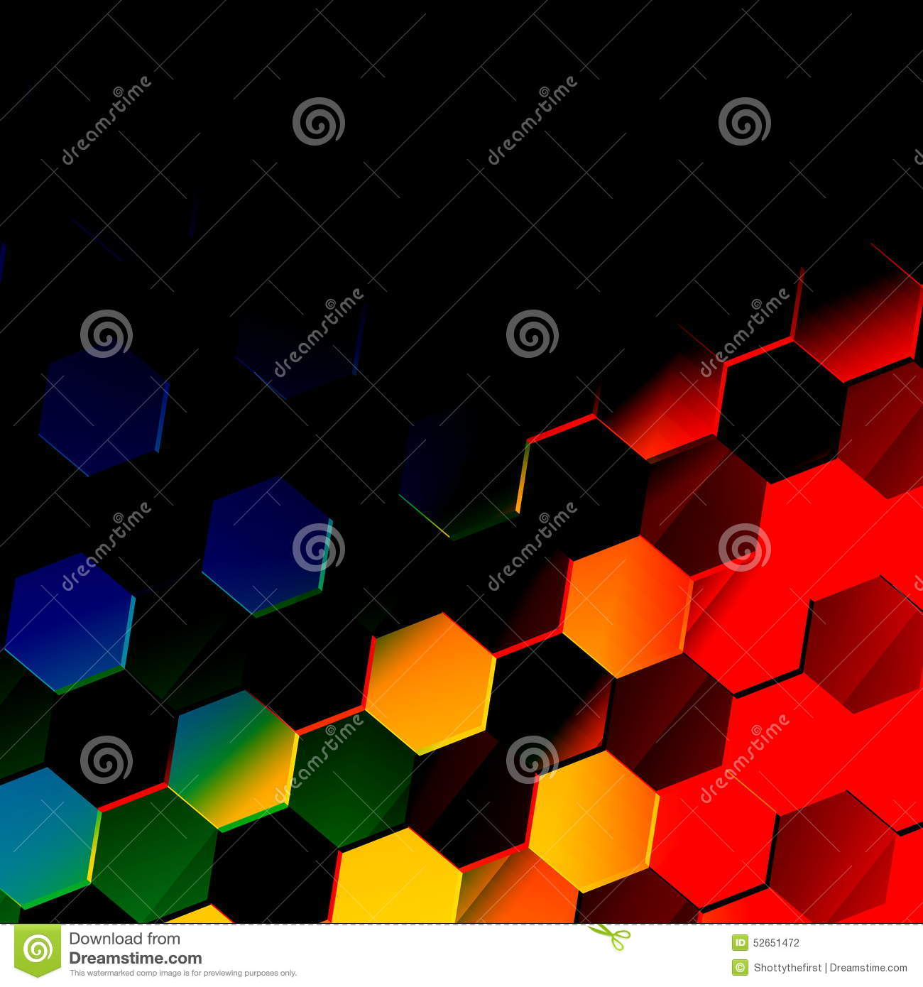 Dark Colorful Hexagonal Background Unique Abstract Hexagon Pattern Flat Modern Illustration Vibrant Texture Design Style