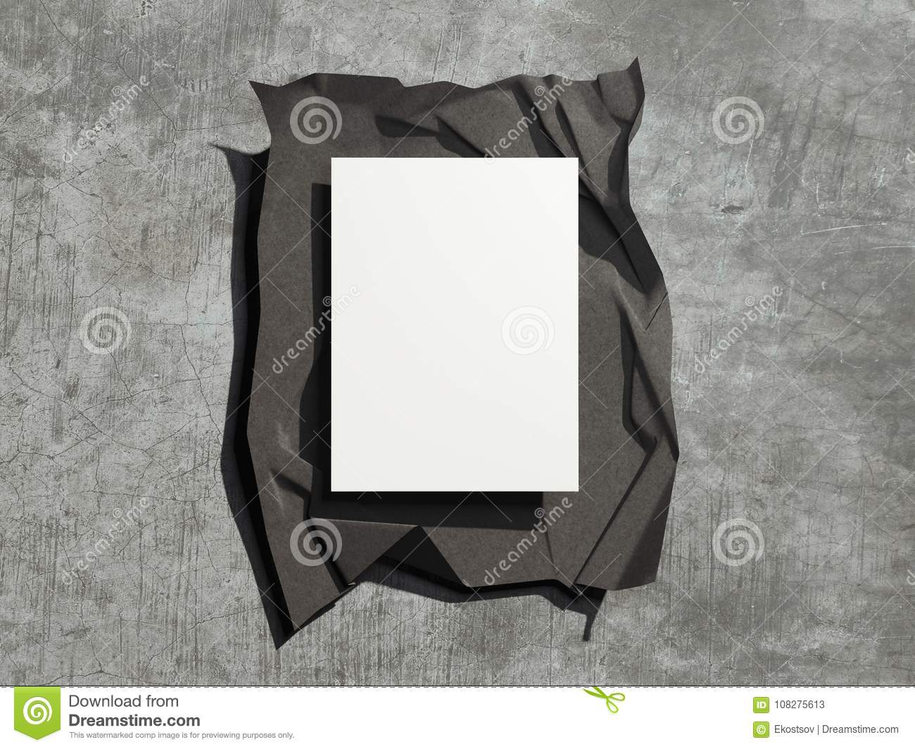 dark cover with blank sheets 3d rendering stock illustration