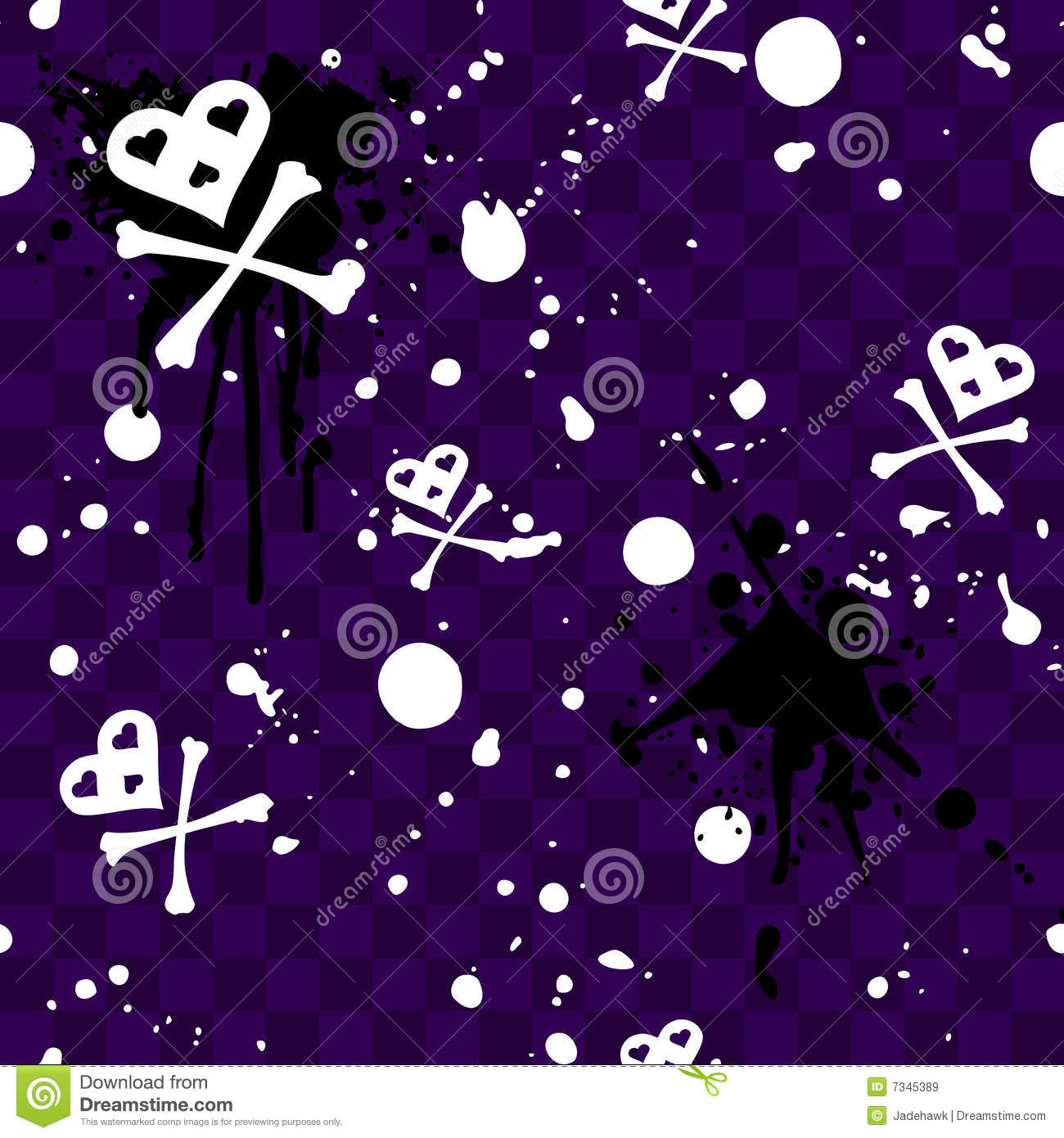 dark emo seamless pattern with paint-splatters royalty free stock images