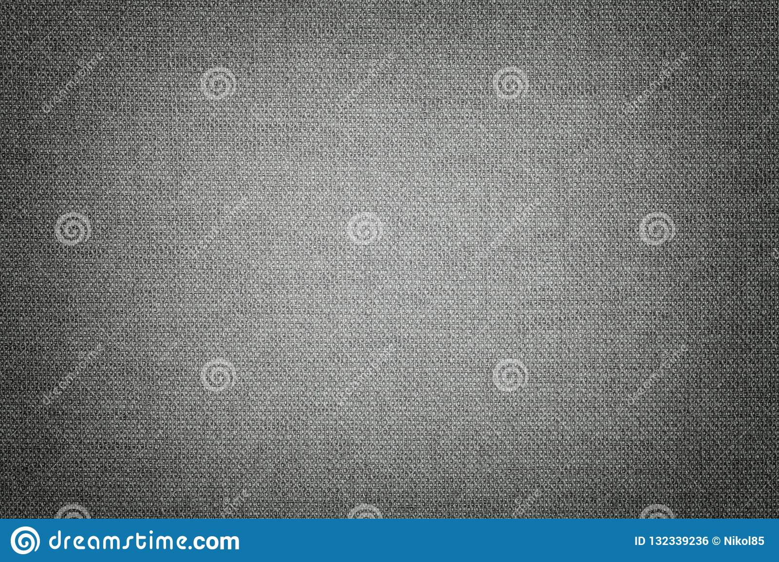 Dark gray background from a textile material with wicker pattern, closeup