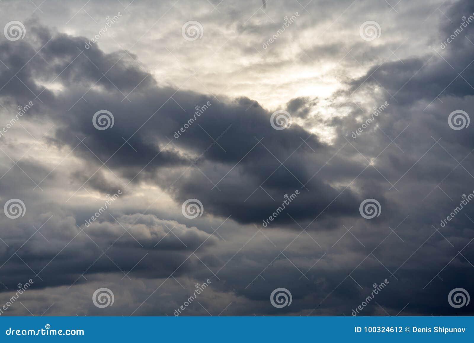 Dark gray dramatic sky
