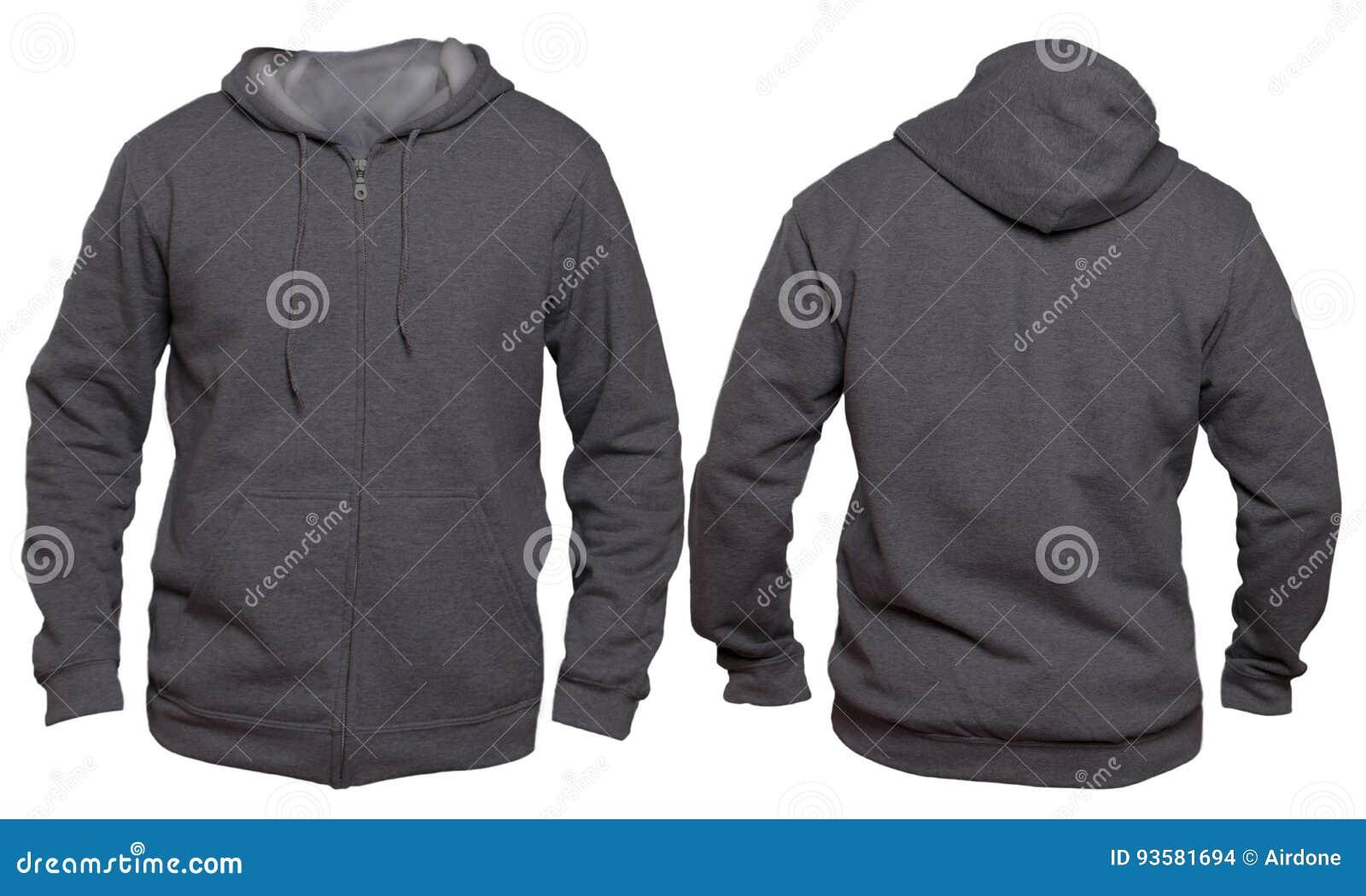 Dark Gray Hoodie Mock Up Stock Photo Image Of Hooded 93581694