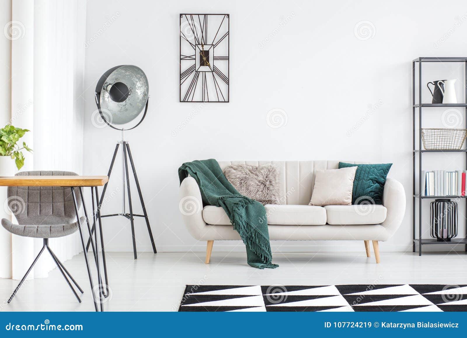 Cream Sofa In Living Room Stock Image Image Of Carpet 107724219