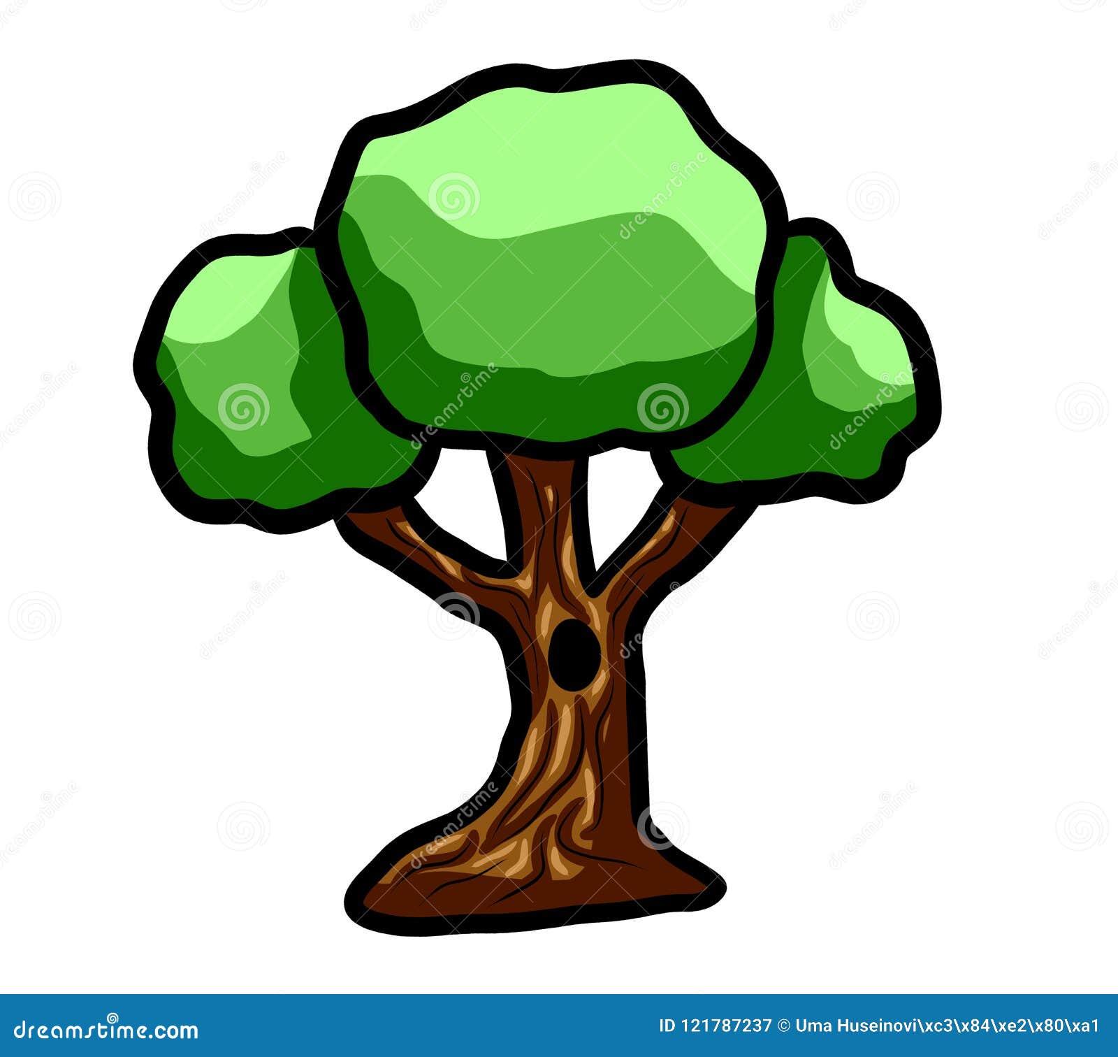 Dark Green Cartoon Fantasy Tree Stock Illustration Illustration Of Flora Clip 121787237 Illustration about cartoon forest trees, bushes, hedges and rocks. dreamstime com