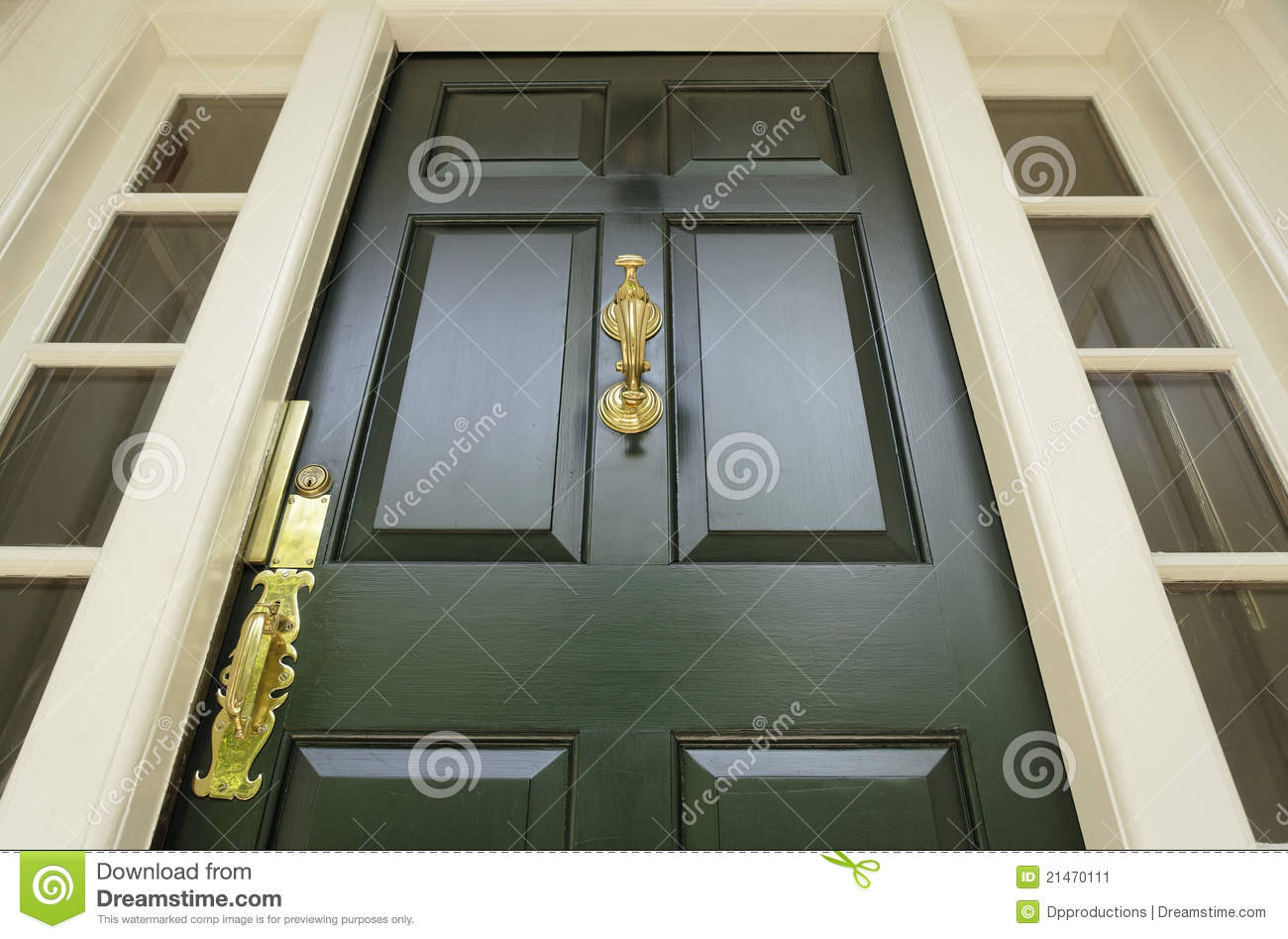 Dark Green Front Door