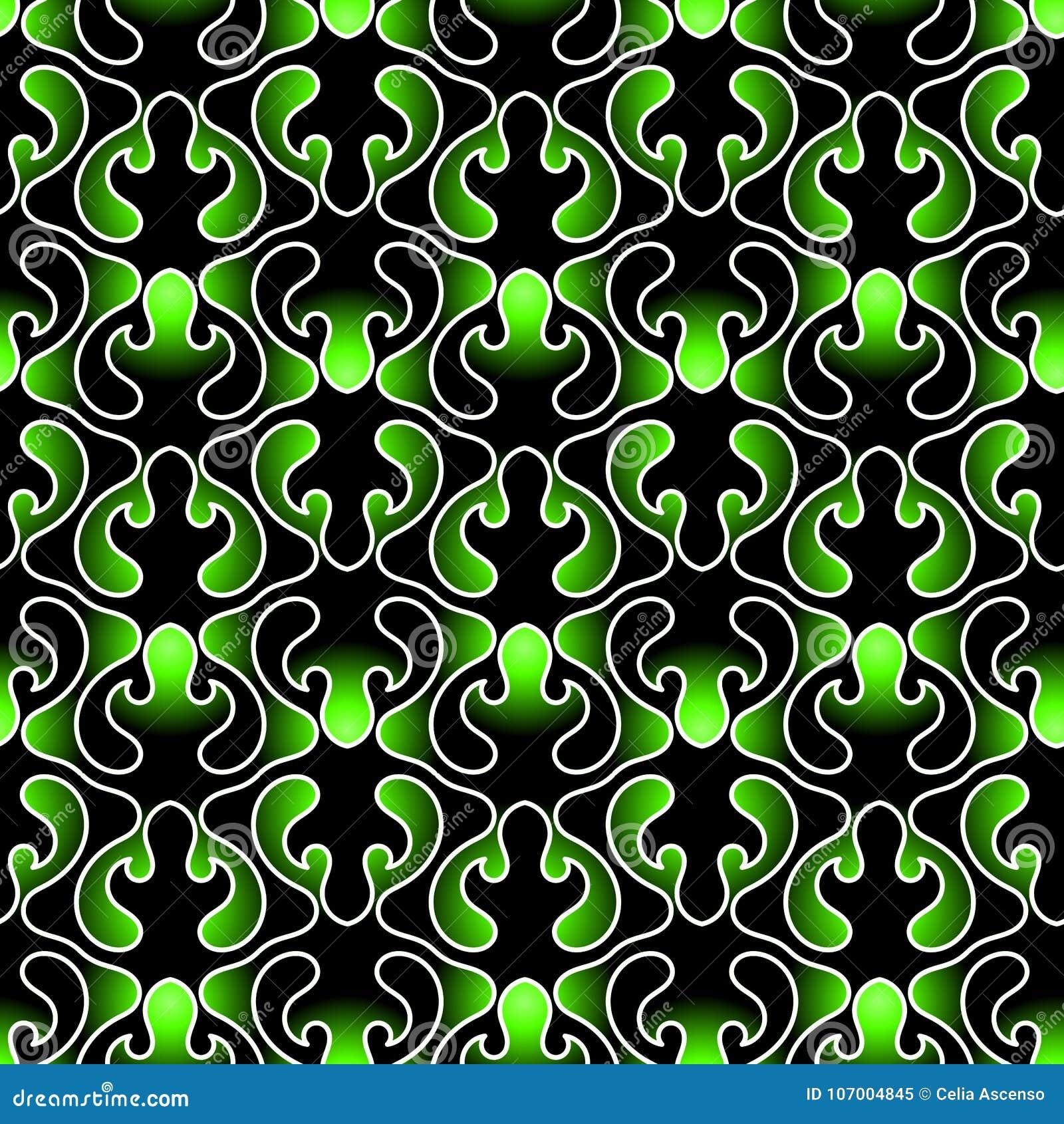 Download Dark Leafs Seamless Texture Wallpaper Stock Illustration    Illustration Of Emerald, Grass: 107004845