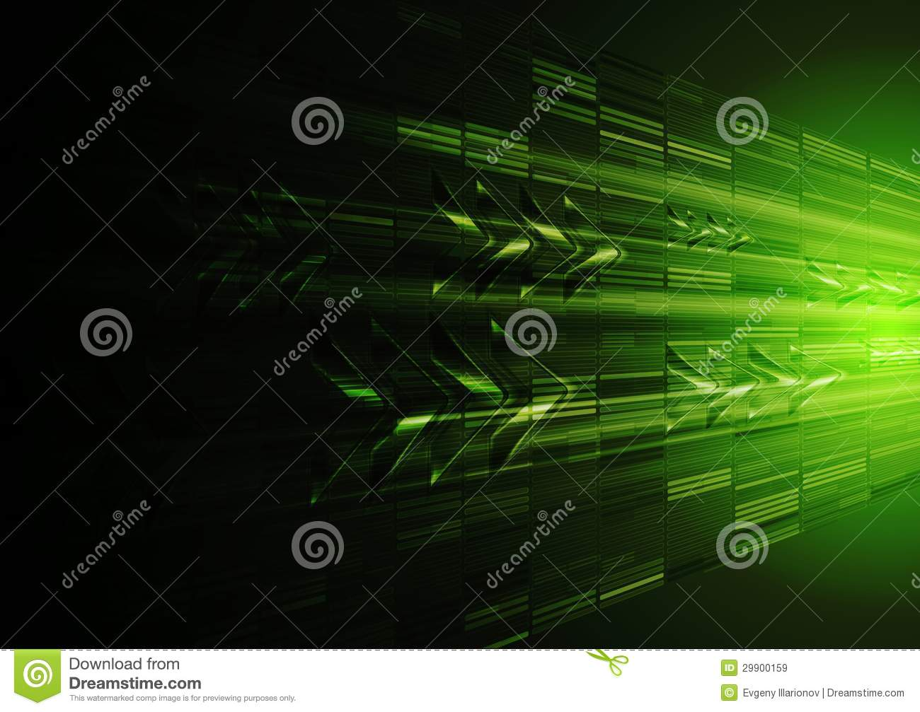 tech green motion design with arrows royalty free stock