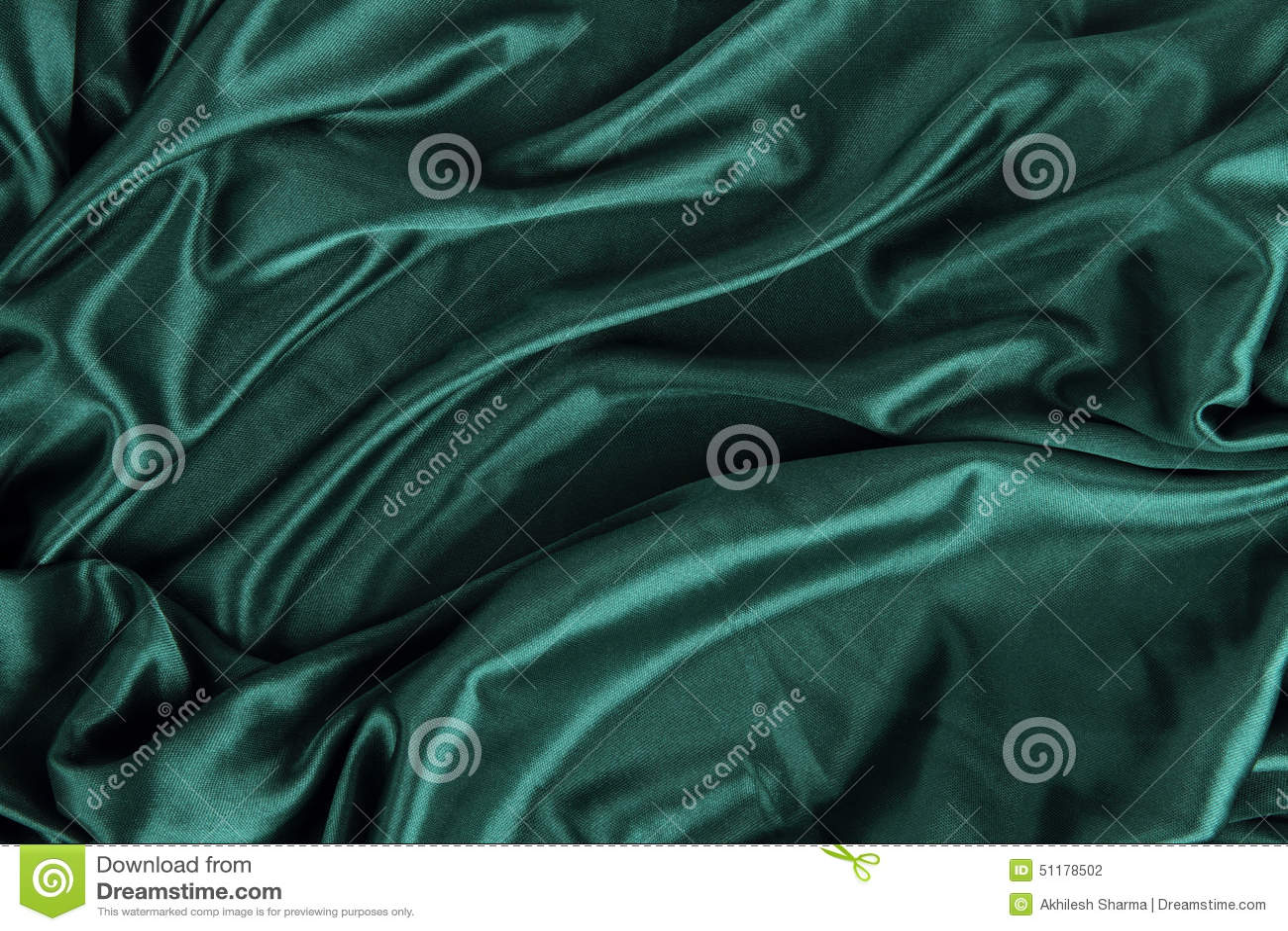 dark green satin silk velvet cloth fabric background stock