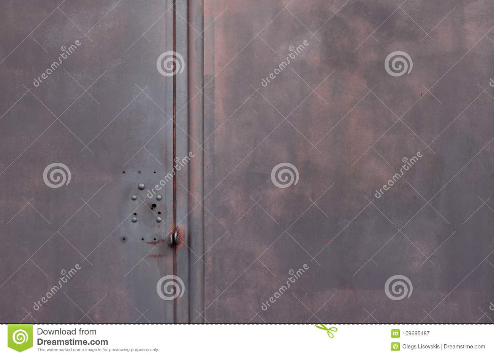 Dark Grey Background Metallic Garage Door Gate Stock Image Image
